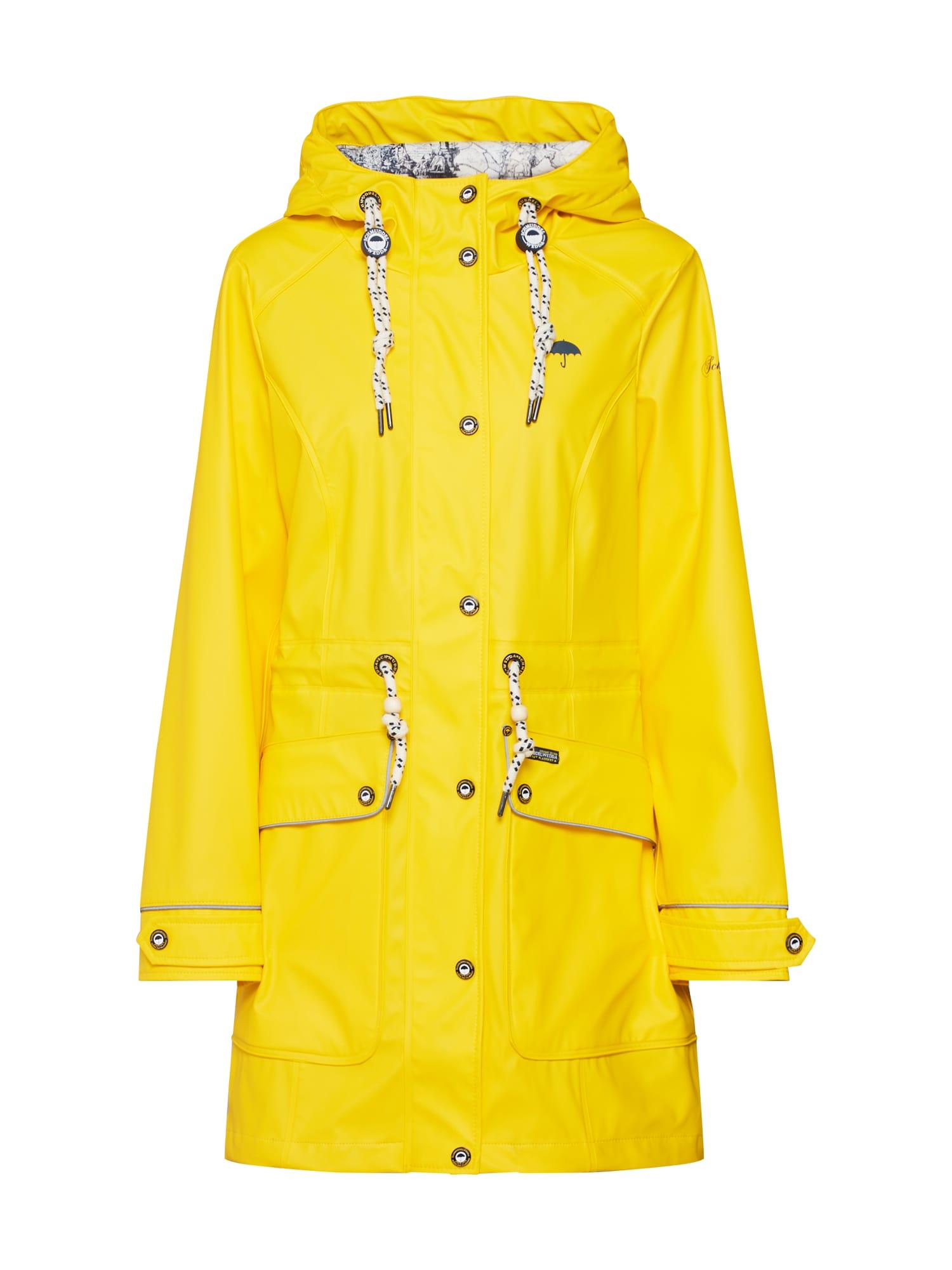 Přechodný kabát žlutá Schmuddelwedda