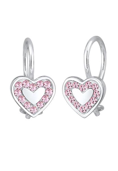 Ohrringe für Frauen - Ohrringe Herz › ELLI › hellpink silber  - Onlineshop ABOUT YOU