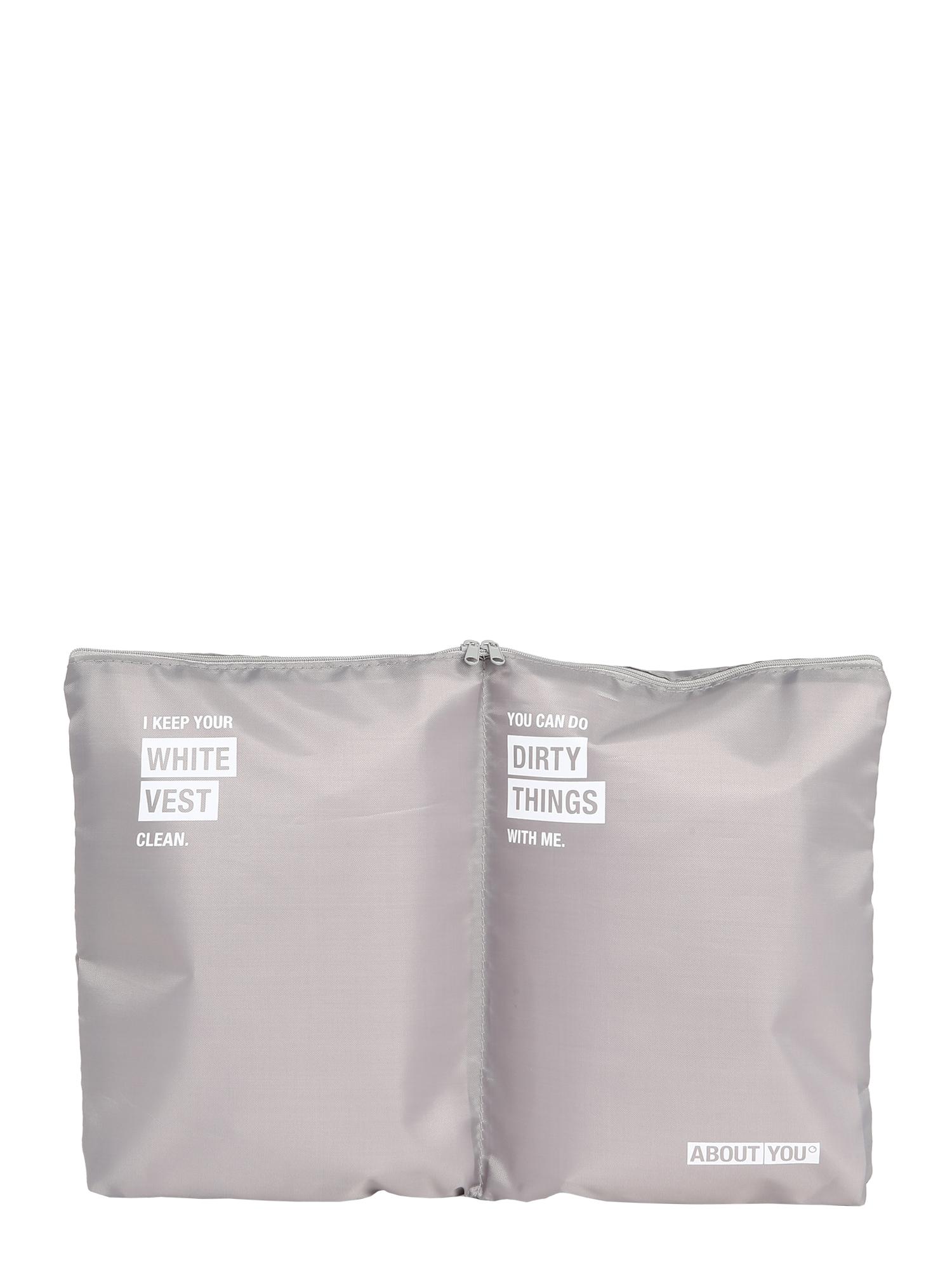 ABOUT YOU Wäschebeutel  biela / sivá
