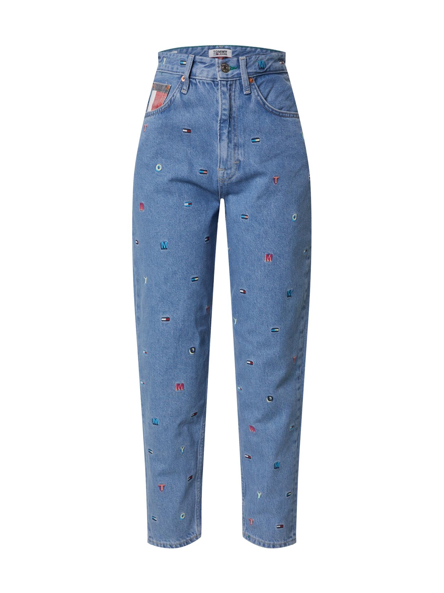 Tommy Jeans Džinsai 'MOM JEAN HR TAPERED' tamsiai (džinso) mėlyna