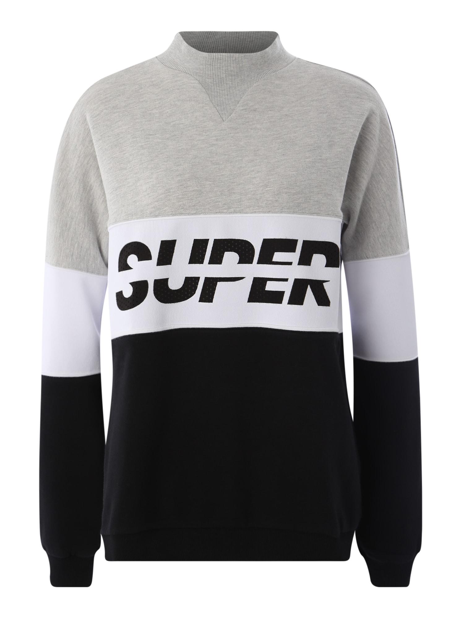 Superdry Sportinio tipo megztinis 'SPORT PUSHER CREW' juoda / kiaušinio lukšto spalva