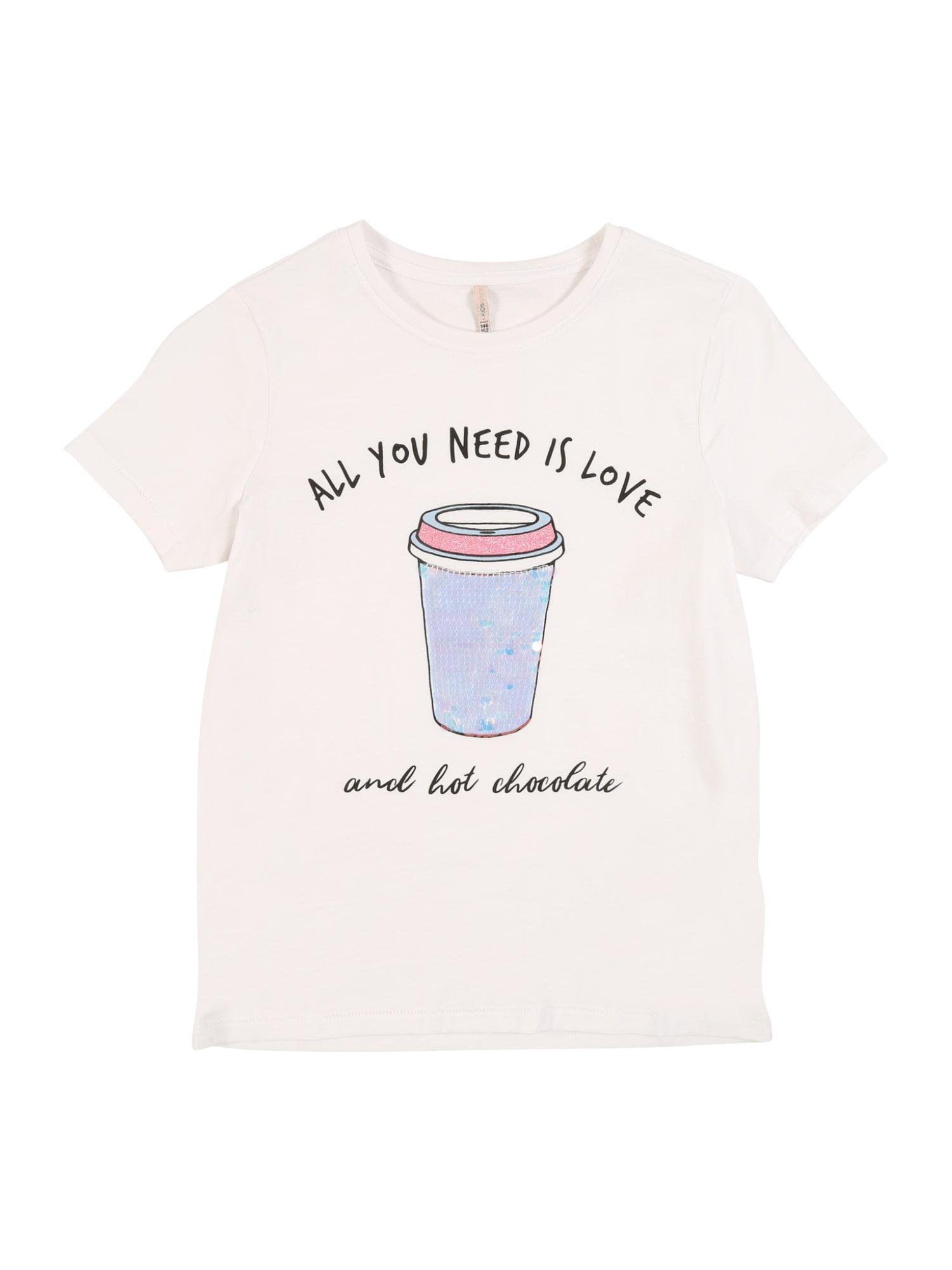 KIDS ONLY Marškinėliai 'KONCINA LIFE' balta