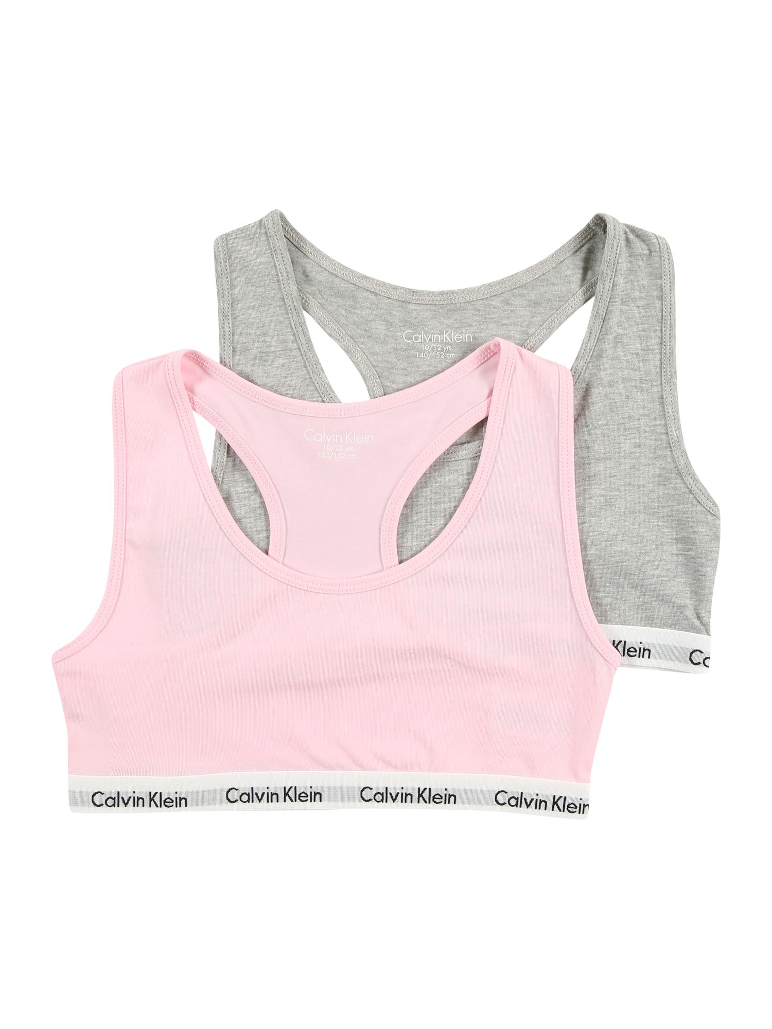Calvin Klein Underwear Liemenėlė ir kelnaitės pilka / rožių spalva