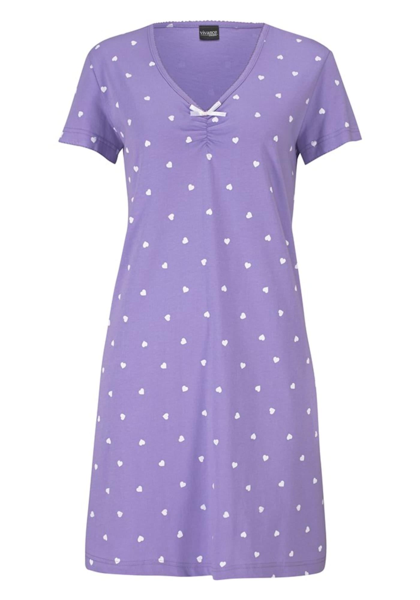VIVANCE Noční košilka  mátová / světle fialová