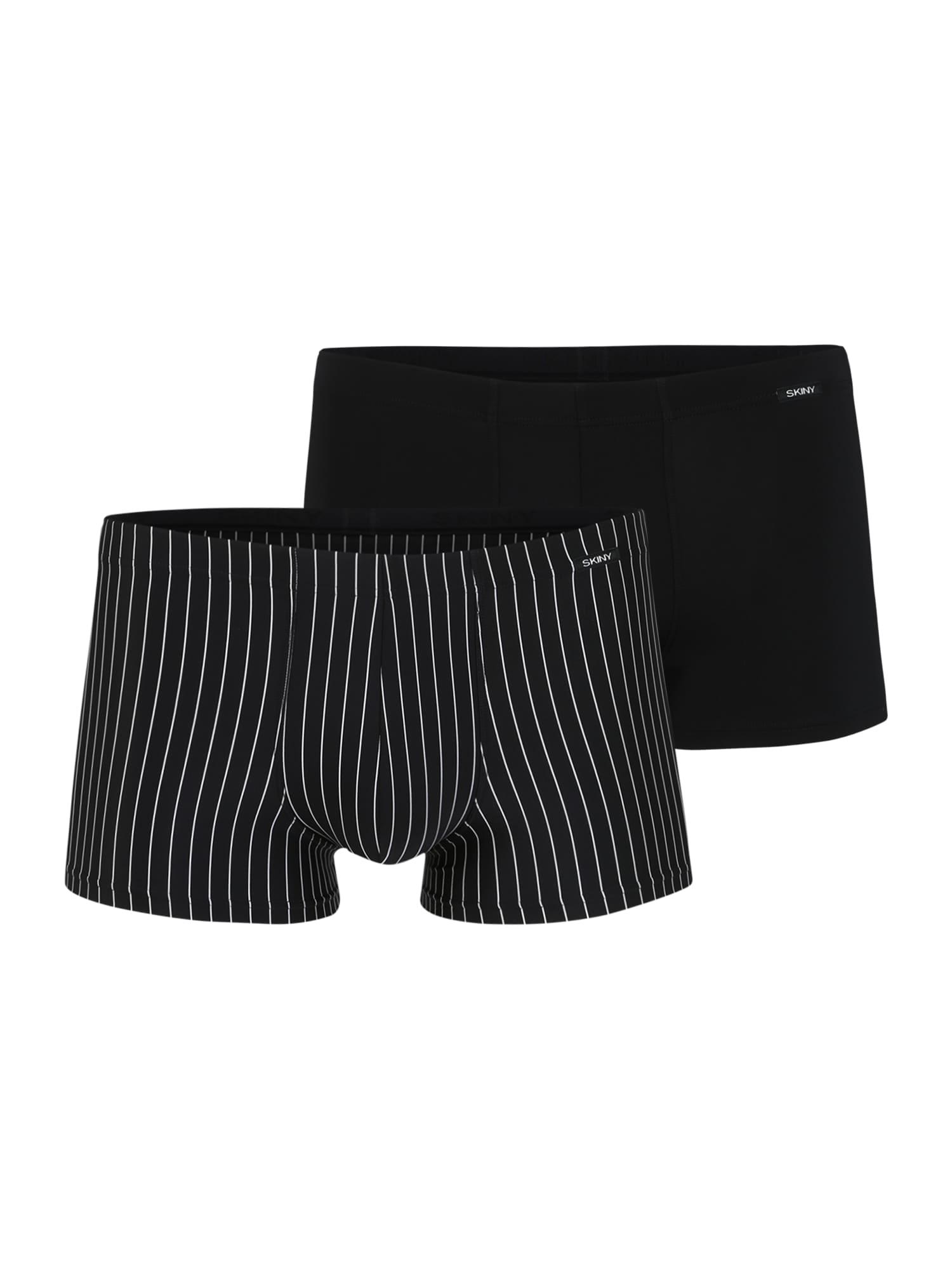 Skiny Boxerky 'Power Line'  čierna / biela