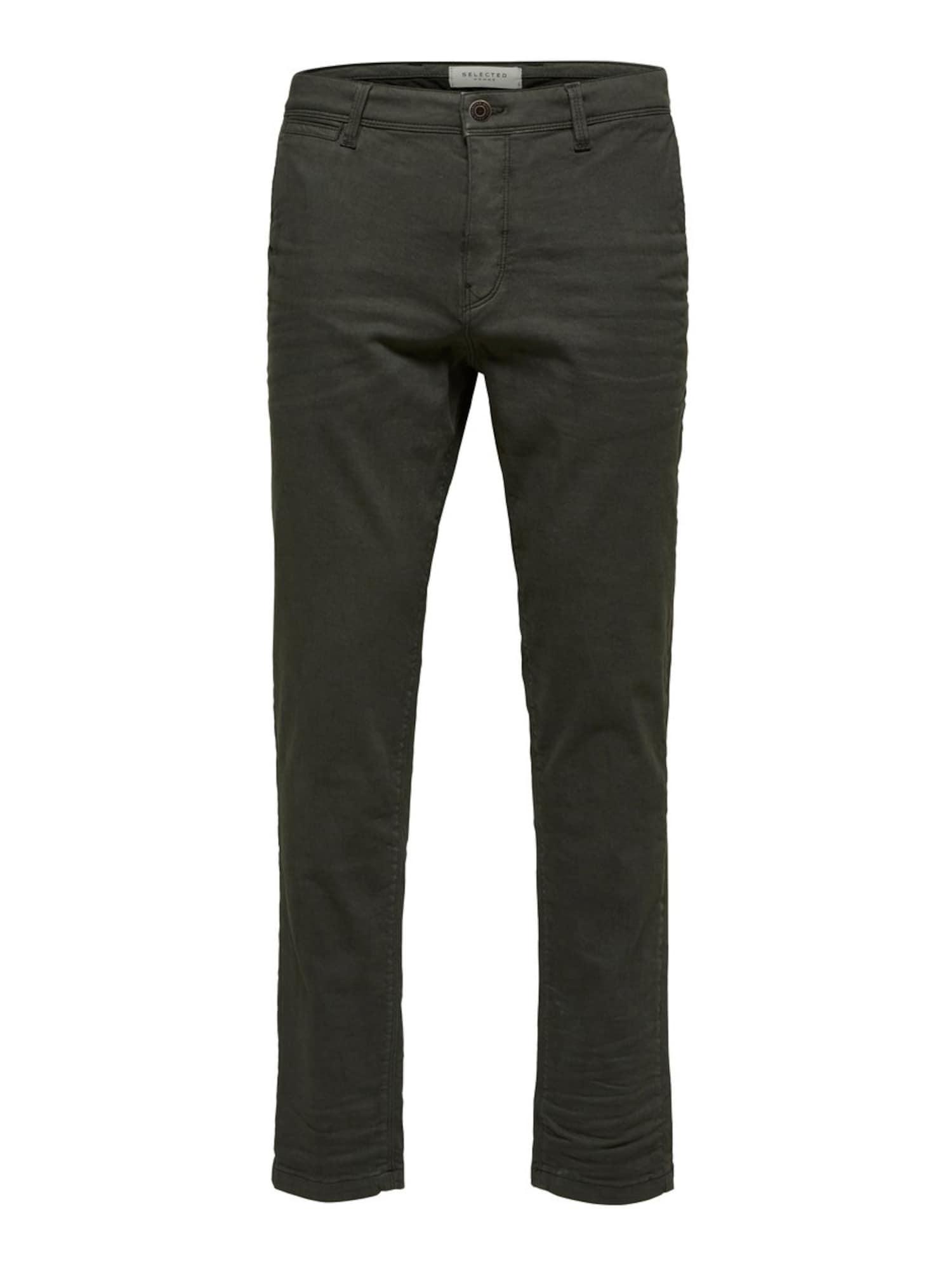 SELECTED HOMME Chino nohavice  jedľová