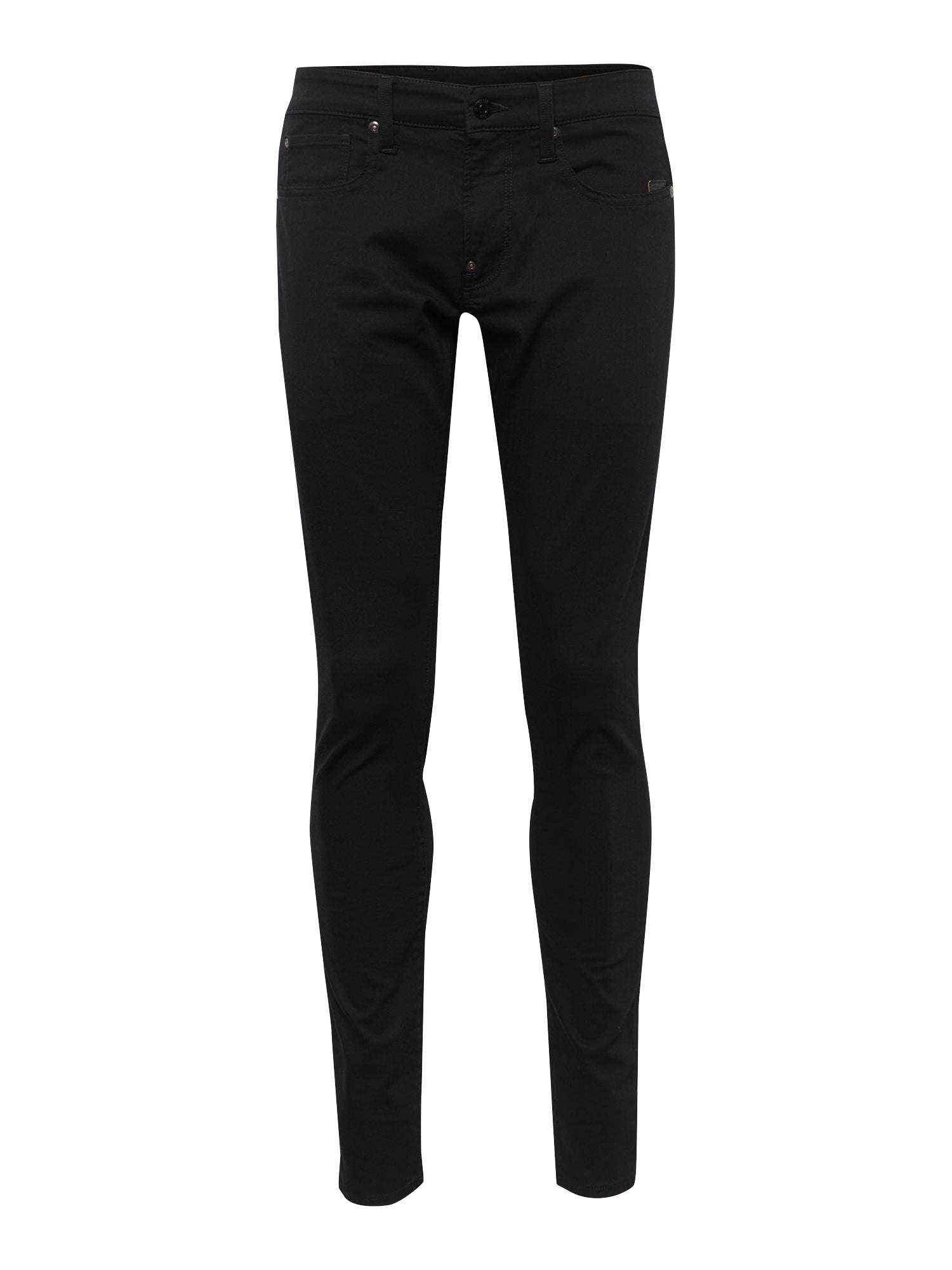 G-Star RAW Džinsai 'Revend Skinny' juodo džinso spalva