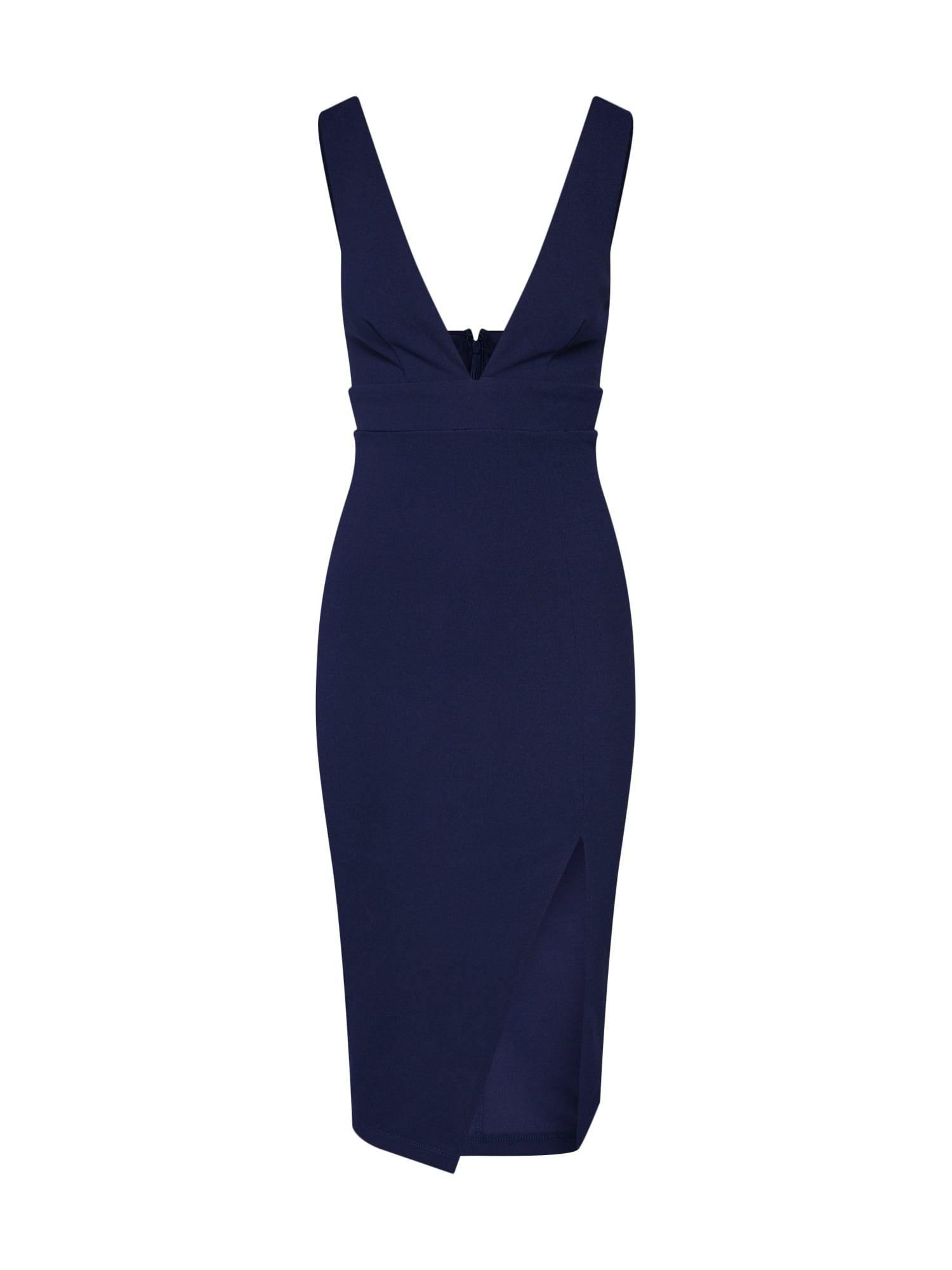 Pouzdrové šaty Shocking námořnická modř Parallel Lines