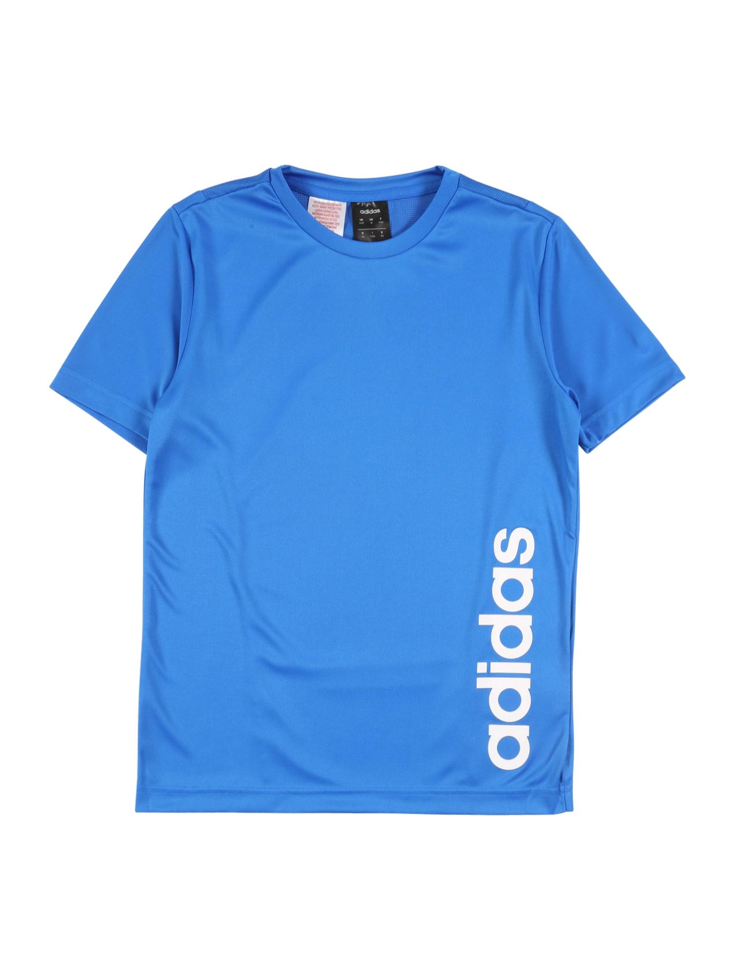 ADIDAS PERFORMANCE Funkčné tričko  biela / nebesky modrá