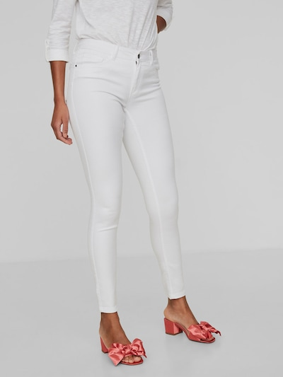 Vero Moda Seven Mid Rise-Fit Skinny Jeans