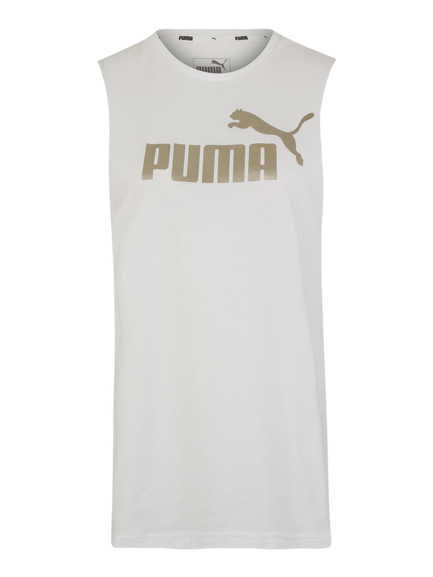 PUMA Top 'ESS+ Metallic '  zlatá / biela