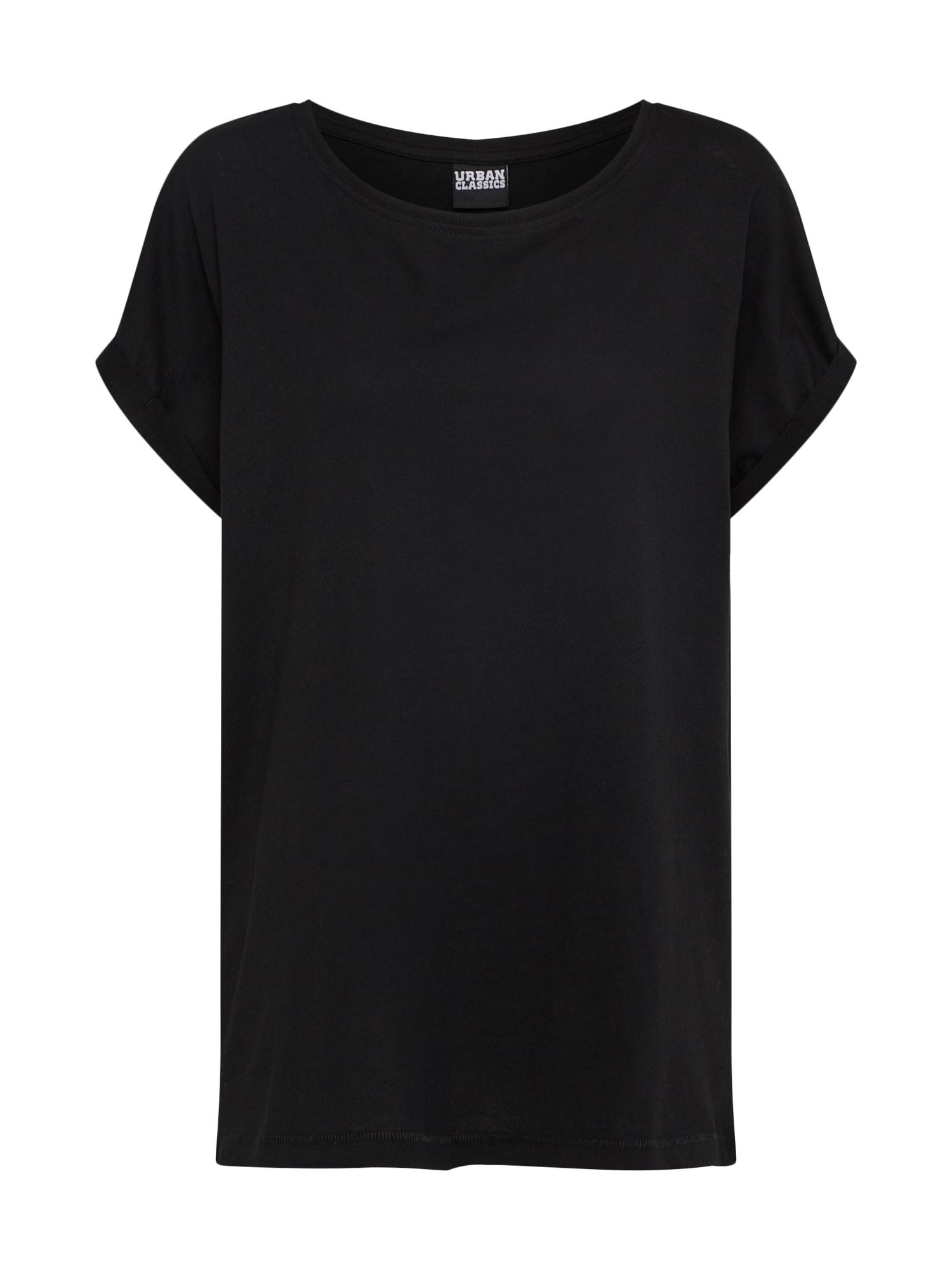 Urban Classics Tricou 'Extended Shoulder'  negru