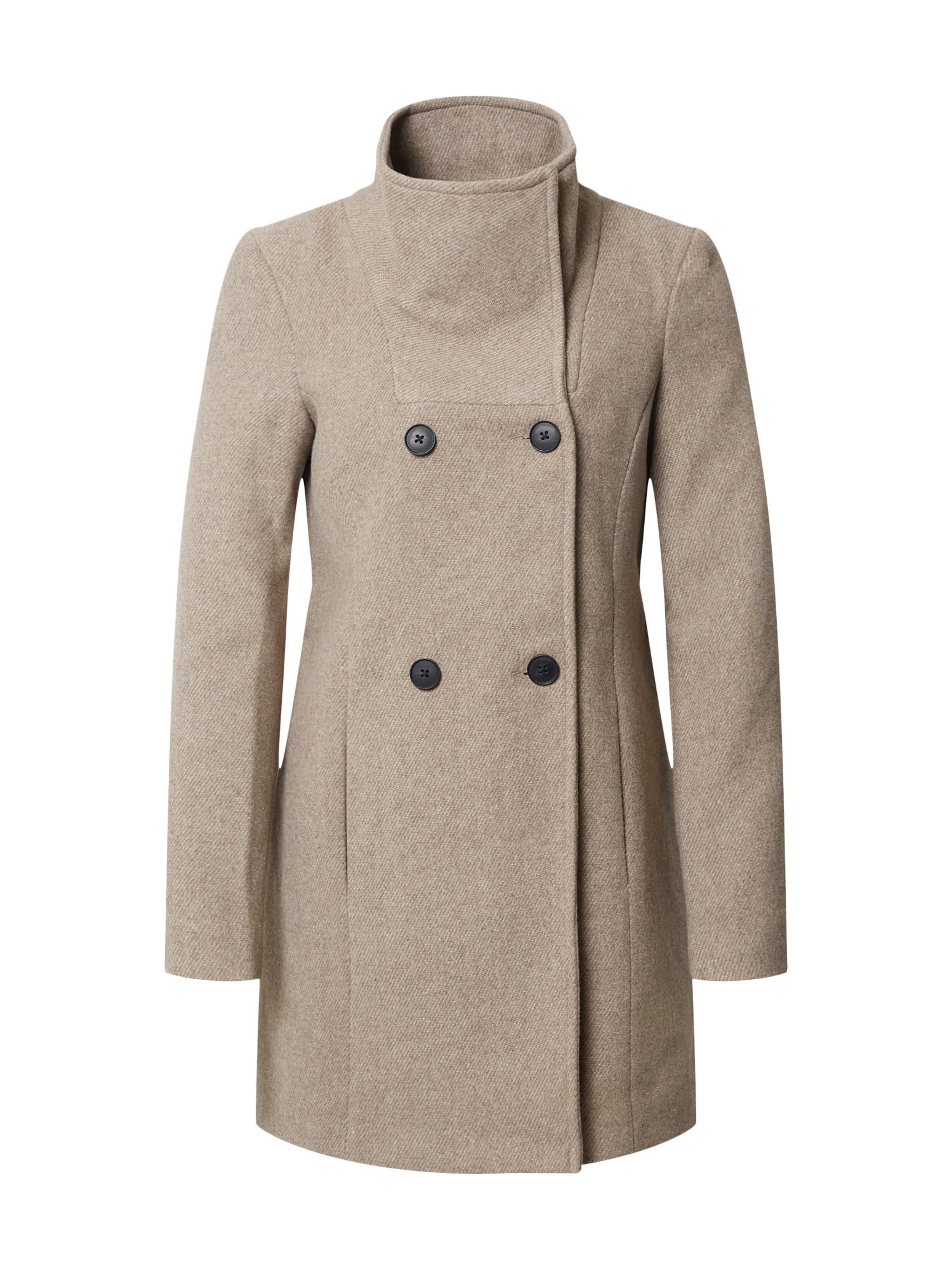 VERO MODA Přechodný kabát 'Classline'  hnědý melír