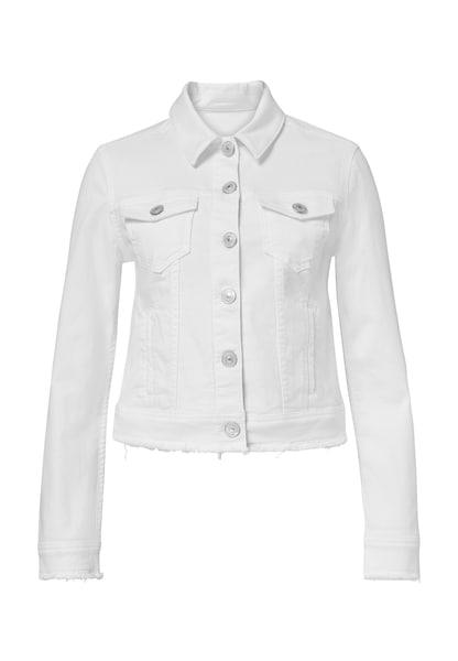 Jacken für Frauen - HALLHUBER Jeansjacke weiß  - Onlineshop ABOUT YOU