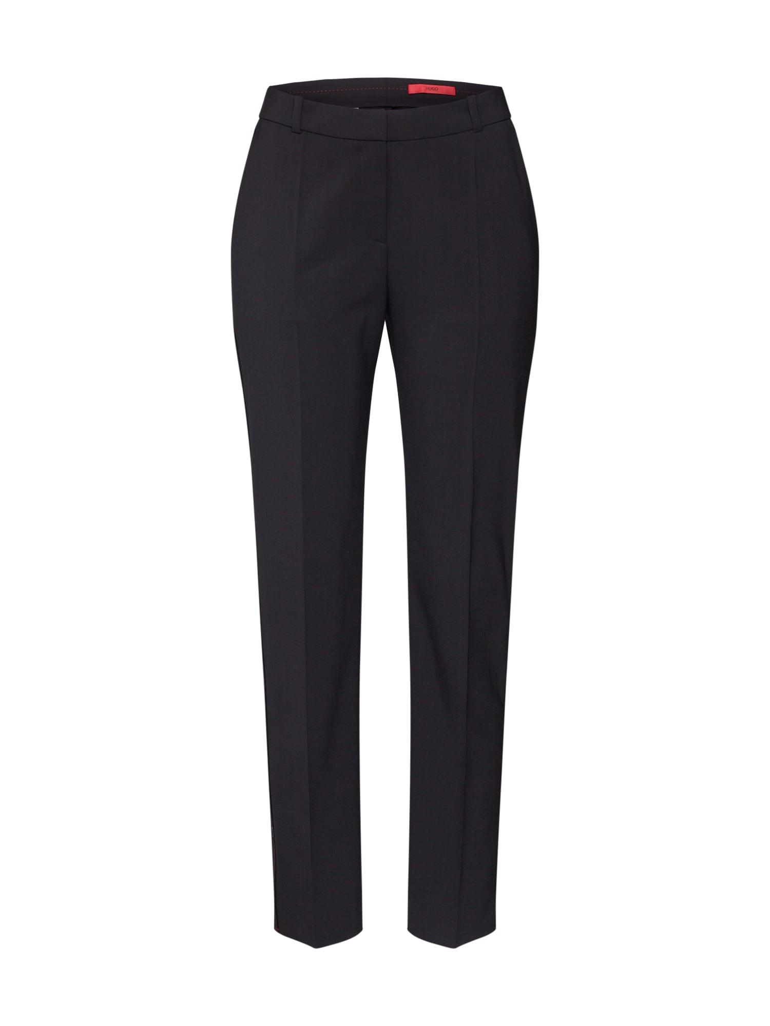 HUGO Kalhoty s puky 'Herila'  černá