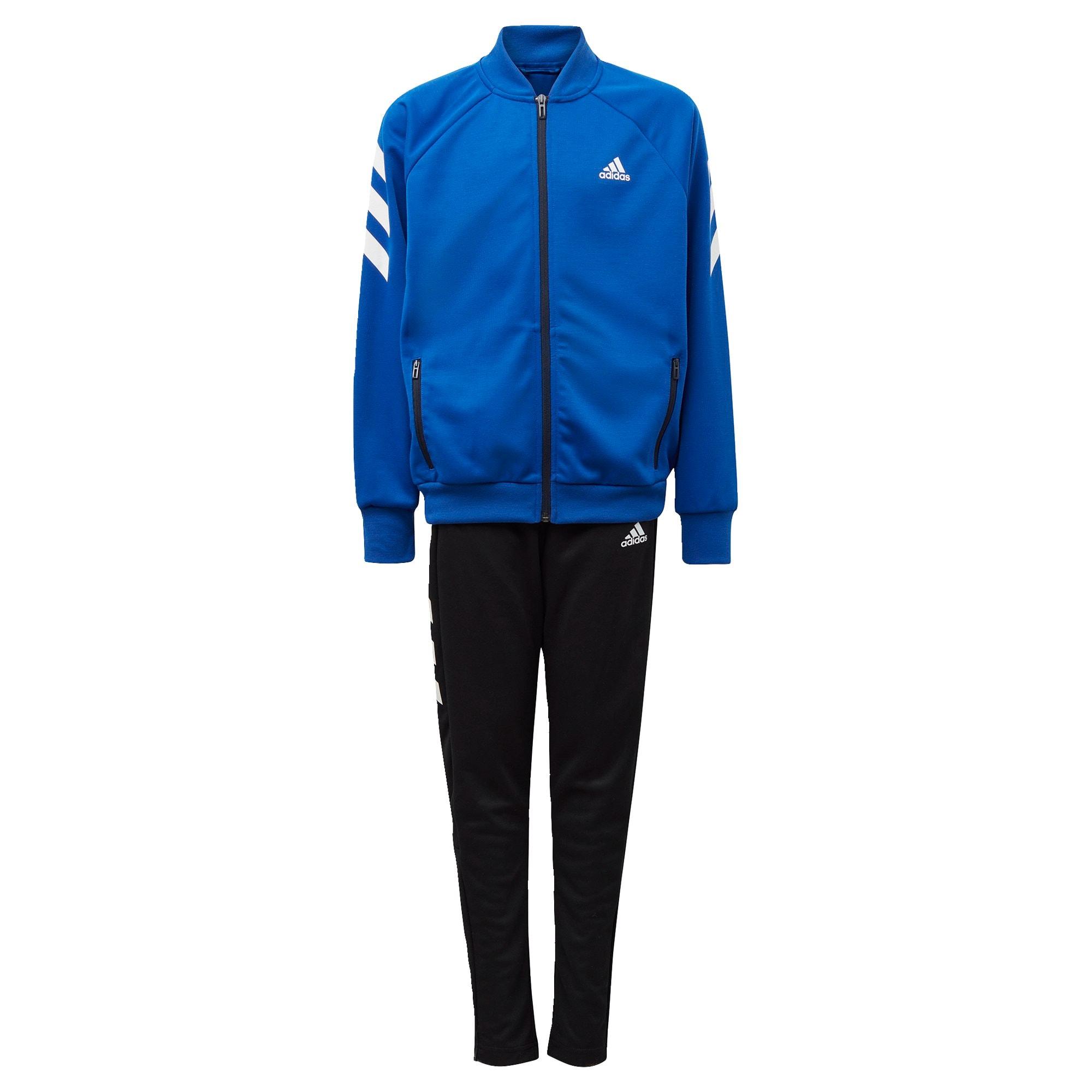 """ADIDAS PERFORMANCE Treniruočių kostiumas juoda / balta / sodri mėlyna (""""karališka"""")"""