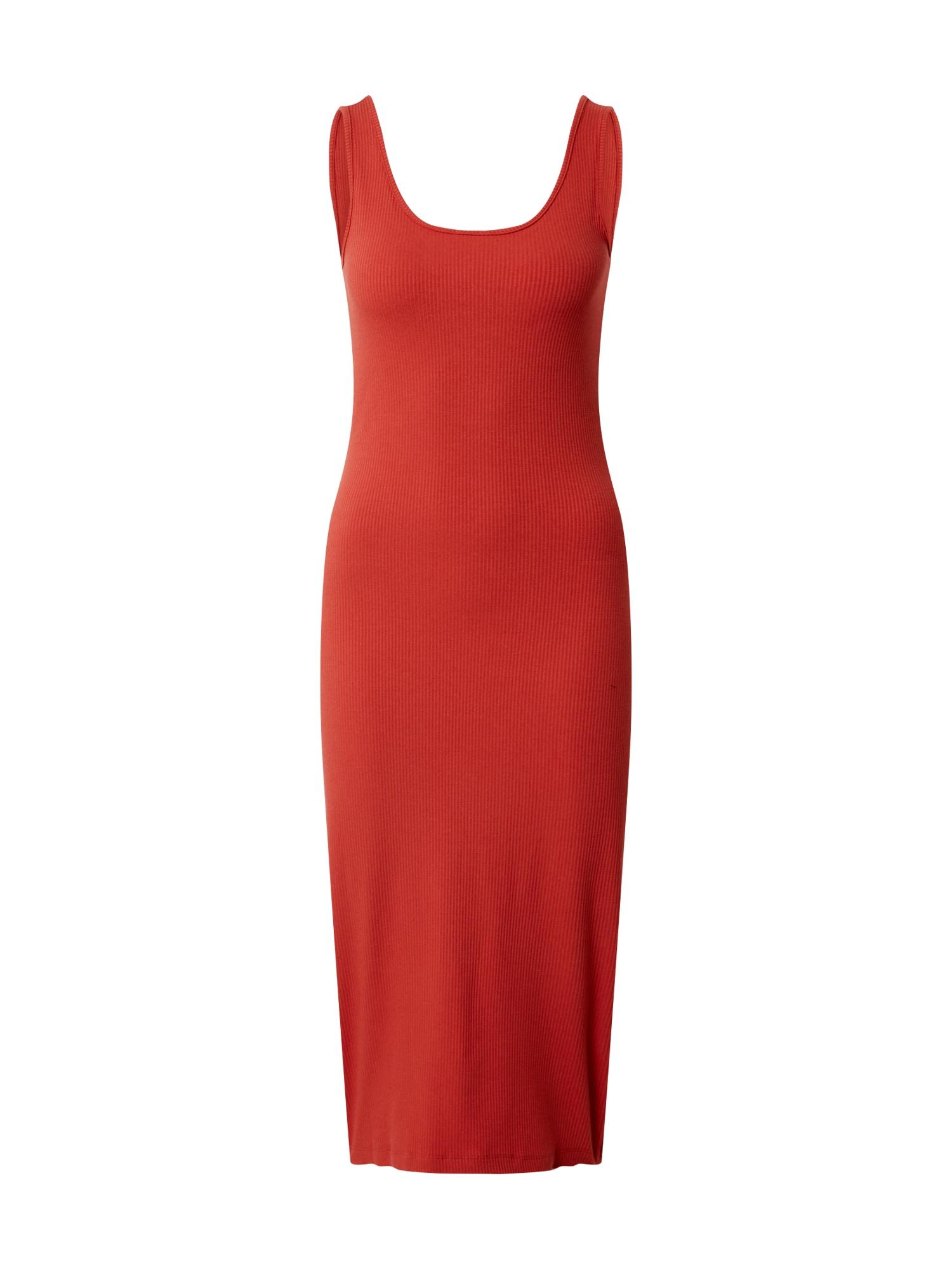 ONLY Šaty 'ONLNAROMA S/L DRESS JRS'  oranžovo červená