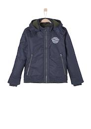 S.Oliver,S.Oliver Junior,s.Oliver Kinder,Jungen Warm wattierte Blouson-Jacke blau | 04053066928135