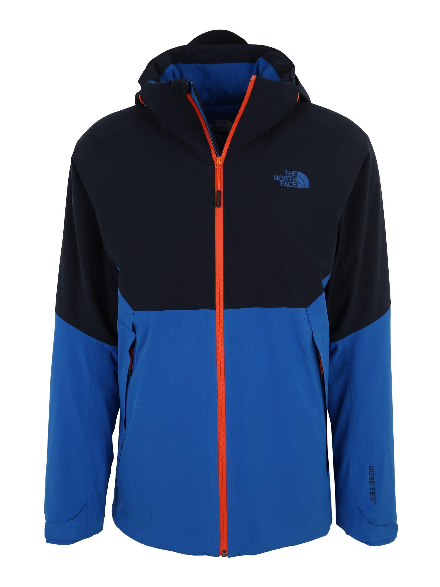 Outdoorová bunda Apex Flex GTX 2.0 modrá ultramarínová modř svítivě oranžová THE NORTH FACE