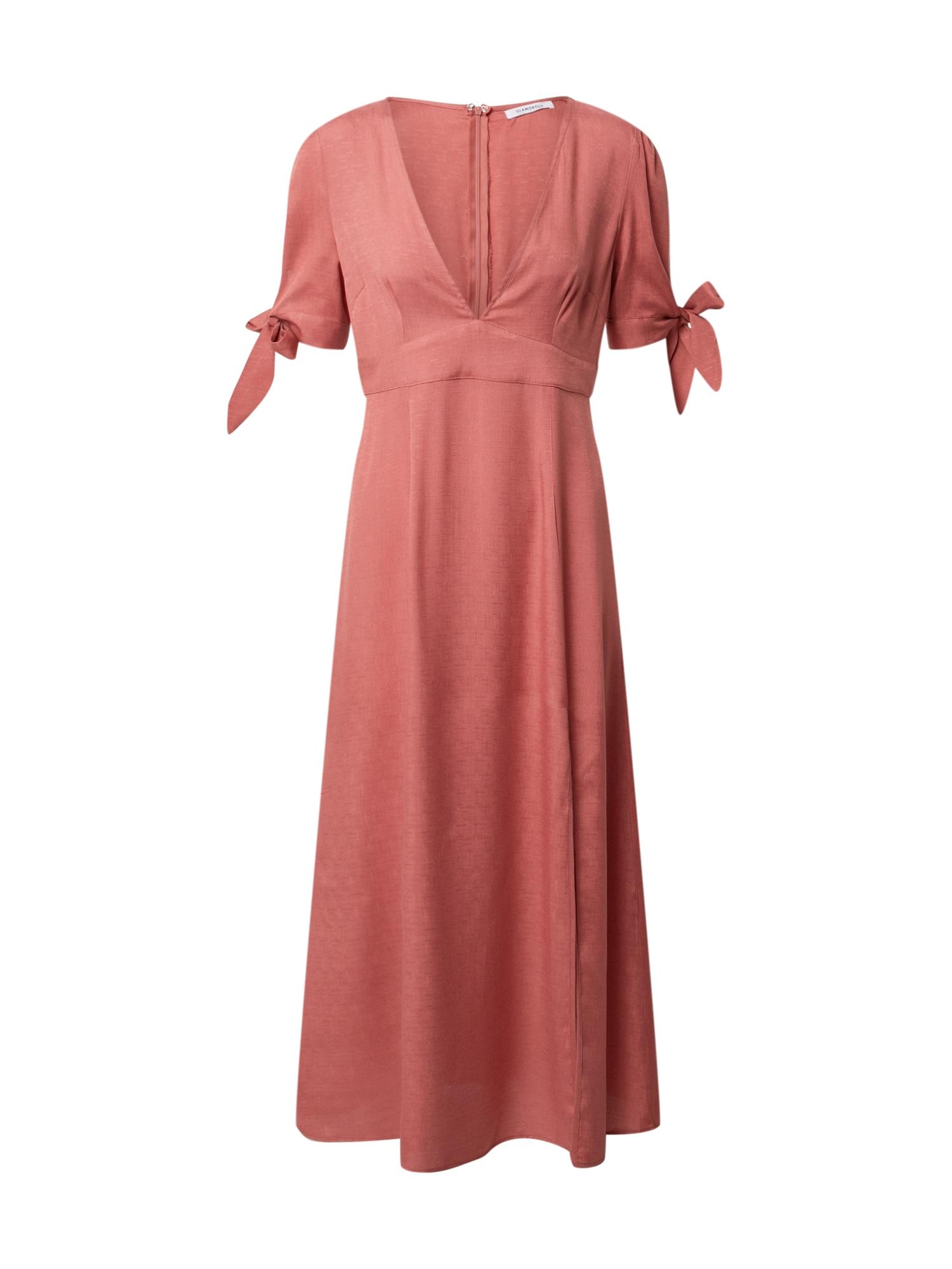 GLAMOROUS Suknelė rūdžių raudona