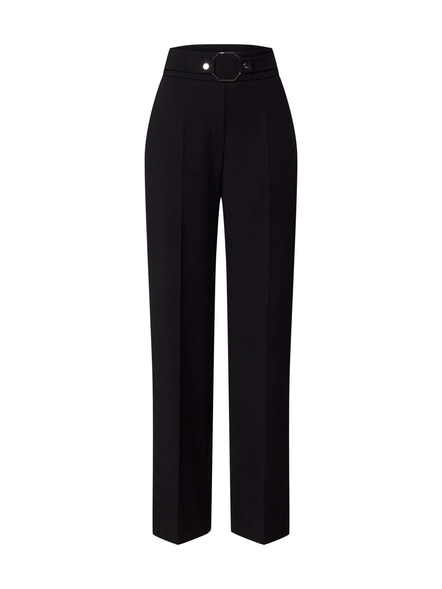 HUGO Kelnės su kantu 'Himesa' juoda