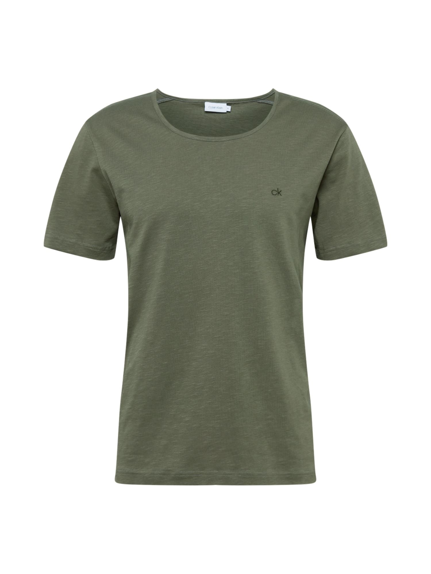 Calvin Klein Marškinėliai alyvuogių spalva