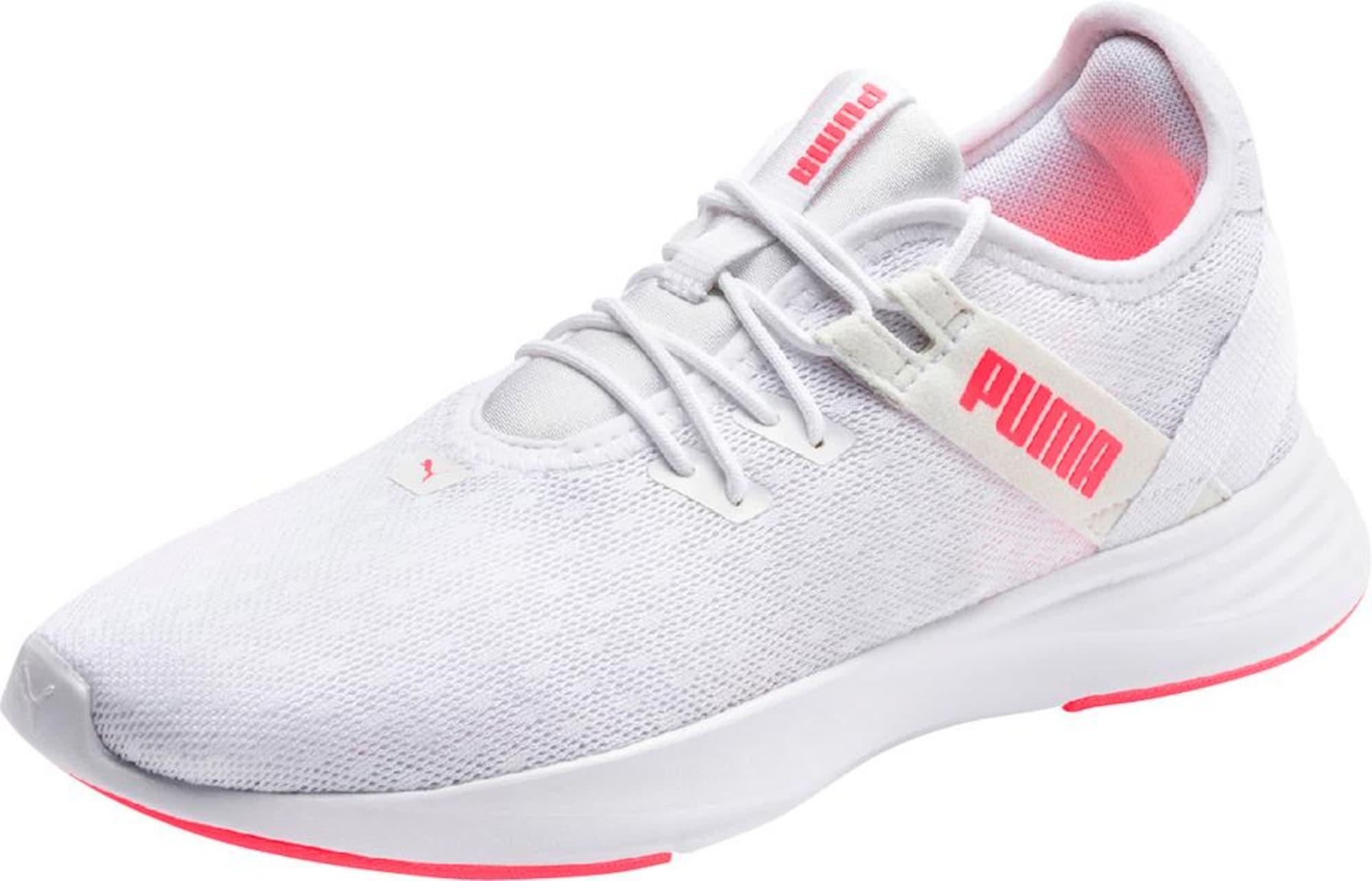 PUMA Sportiniai batai balta / neoninė oranžinė