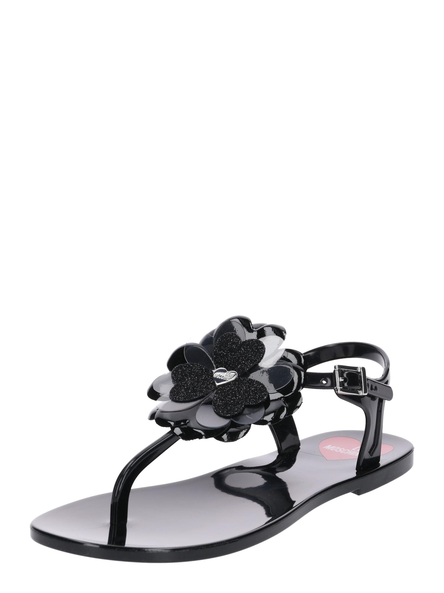 Sandály JA16011G17 černá Love Moschino