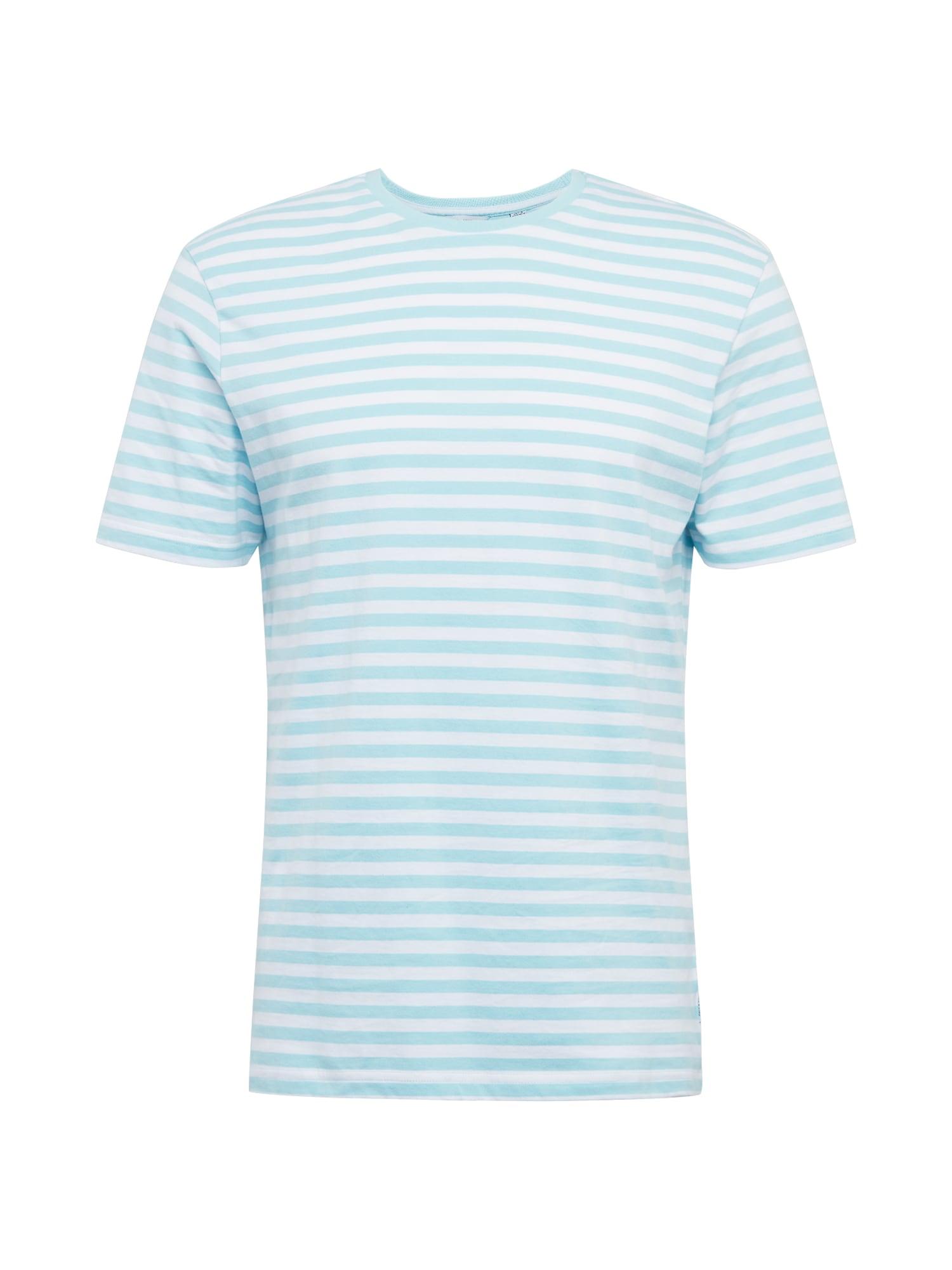 Only & Sons Marškinėliai 'JAMIE' balta / šviesiai mėlyna