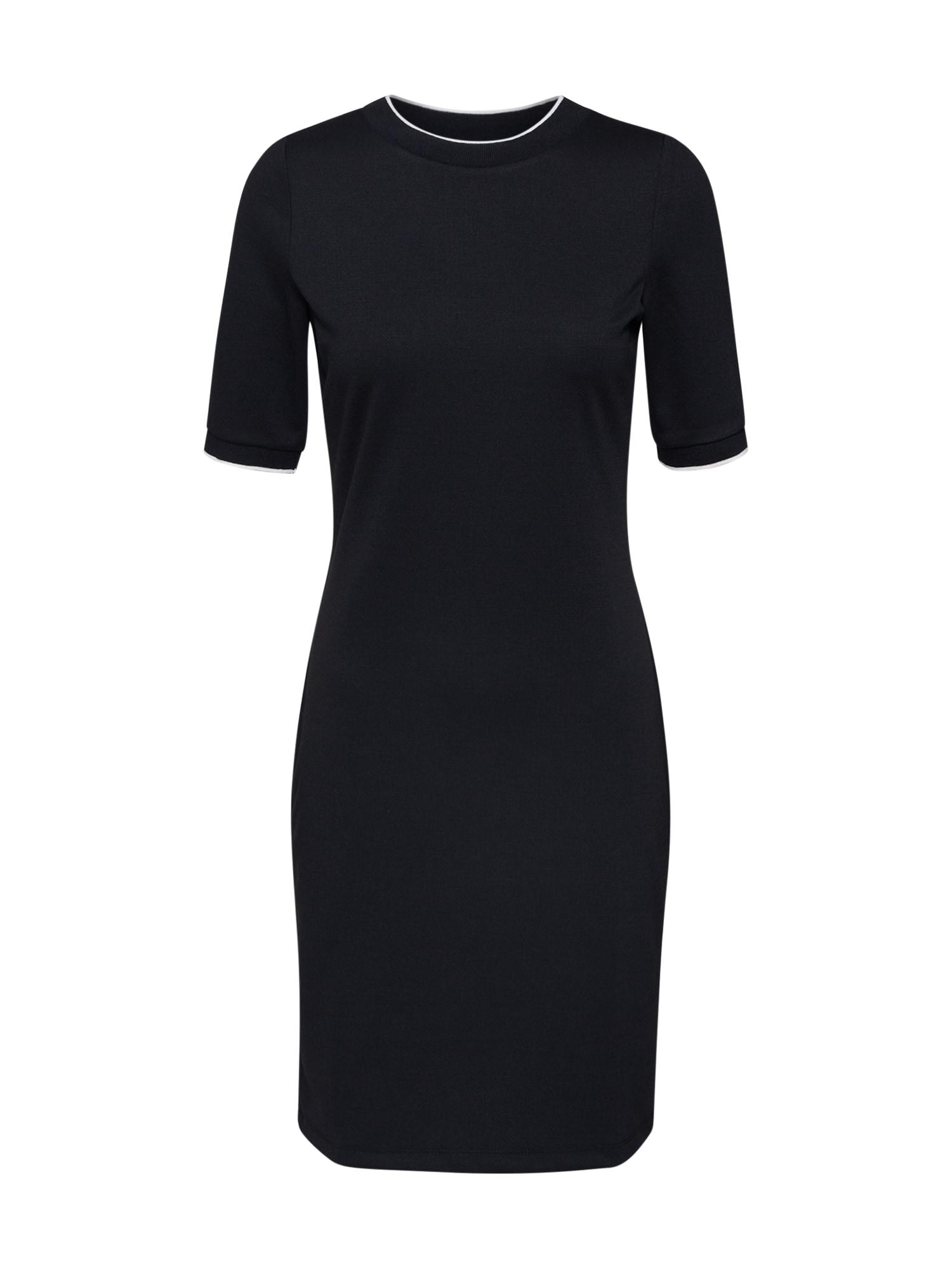 EDC BY ESPRIT Vakarinė suknelė 'tricot dress' juoda