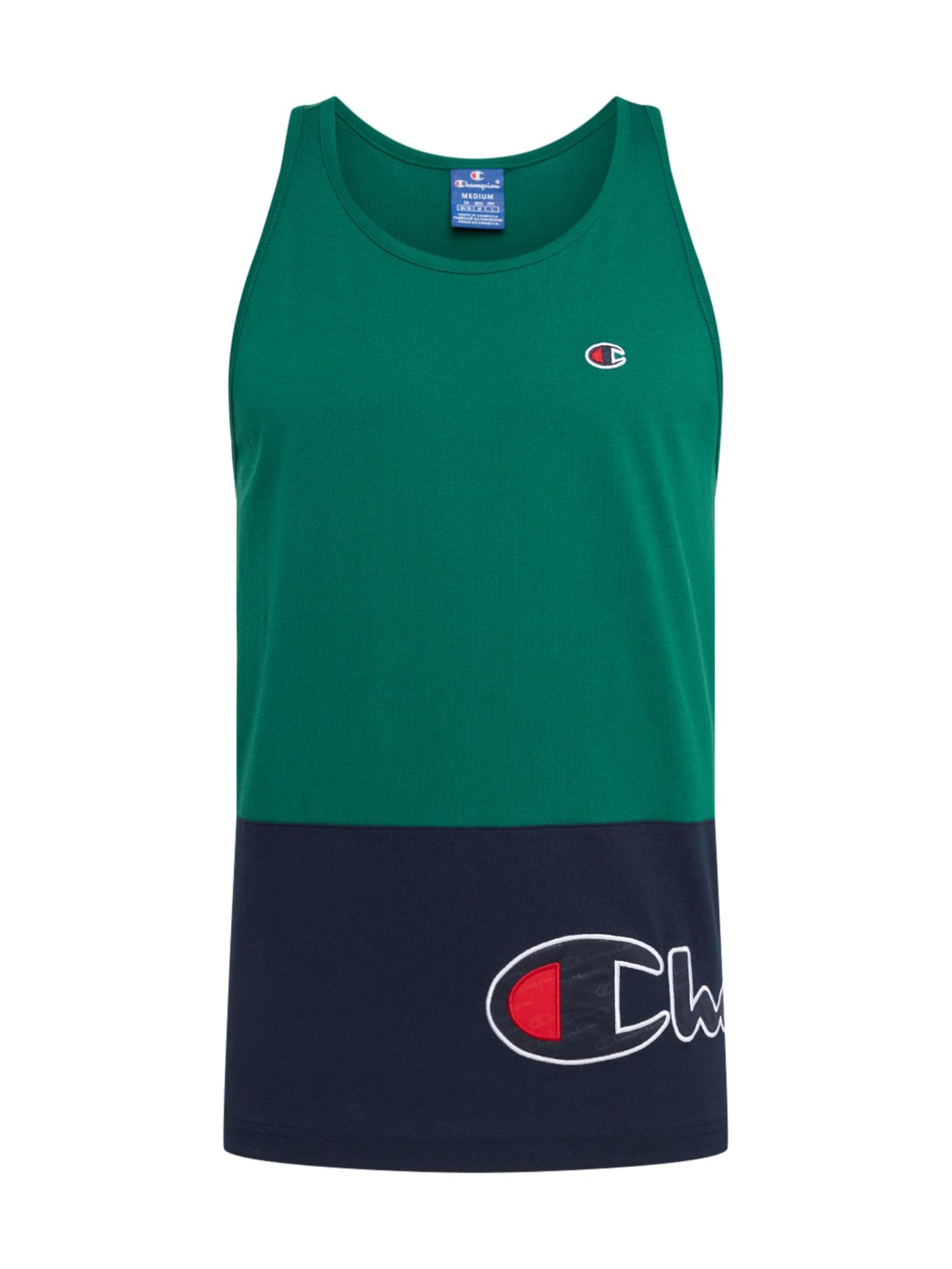 Champion Authentic Athletic Apparel Marškinėliai tamsiai mėlyna / įdegio spalva