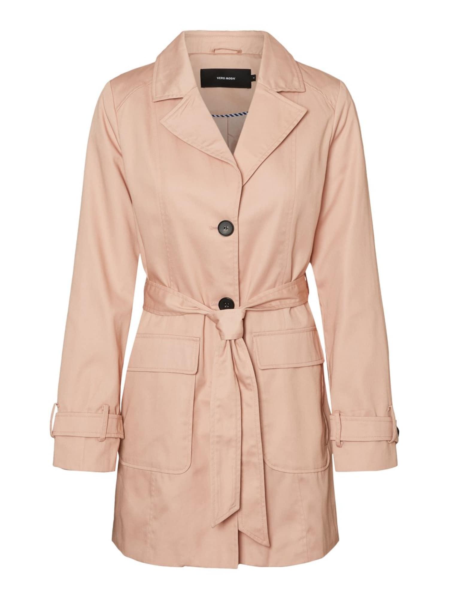 VERO MODA Prechodný kabát  staroružová