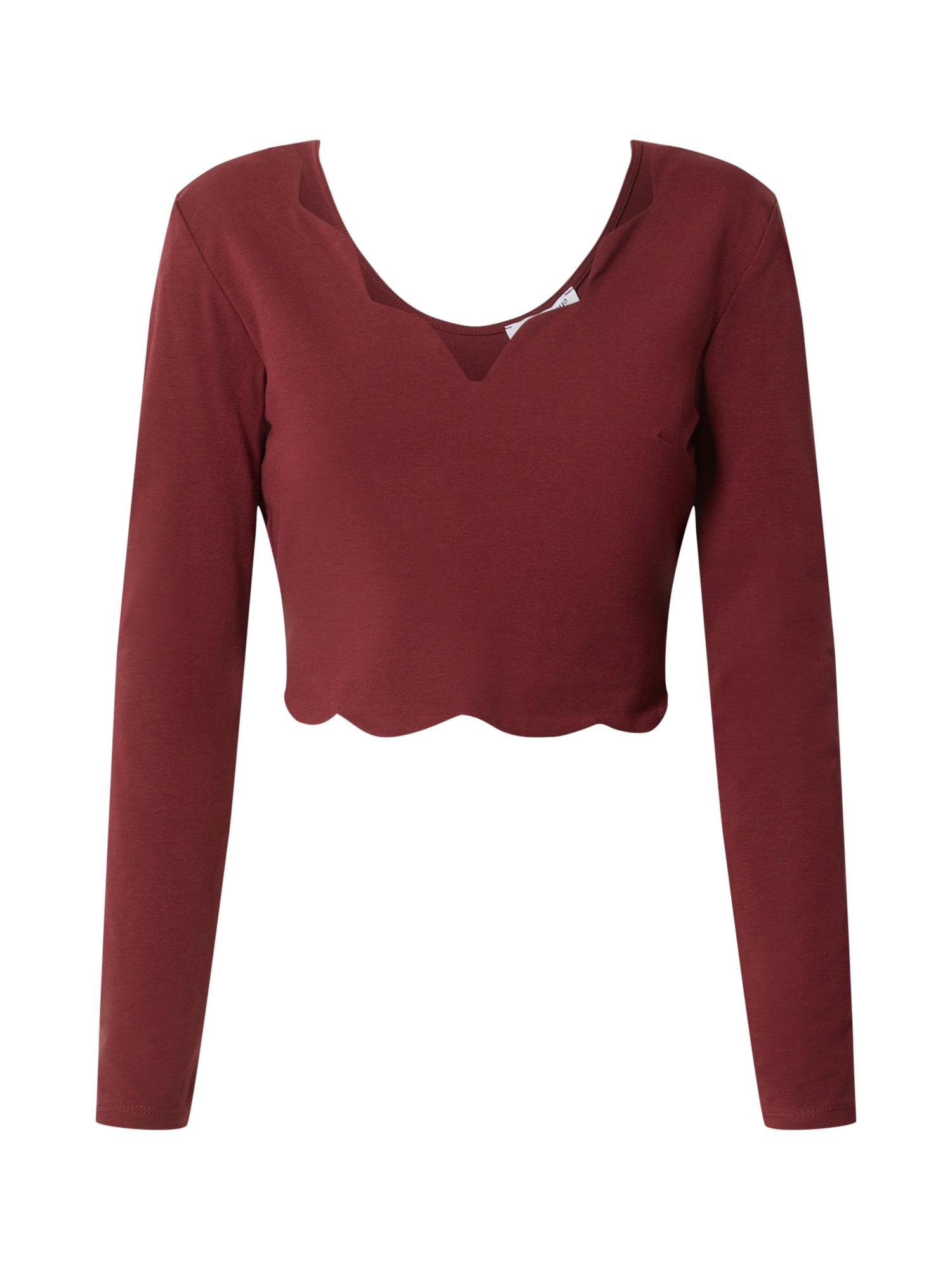 ABOUT YOU Marškinėliai 'Jascha' vyšninė spalva