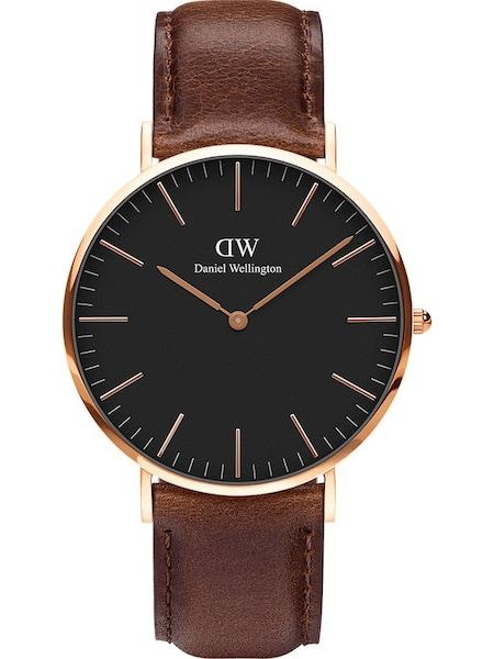 Uhren für Frauen - Daniel Wellington Uhr 'Bristol DW00100125' braun gold schwarz  - Onlineshop ABOUT YOU
