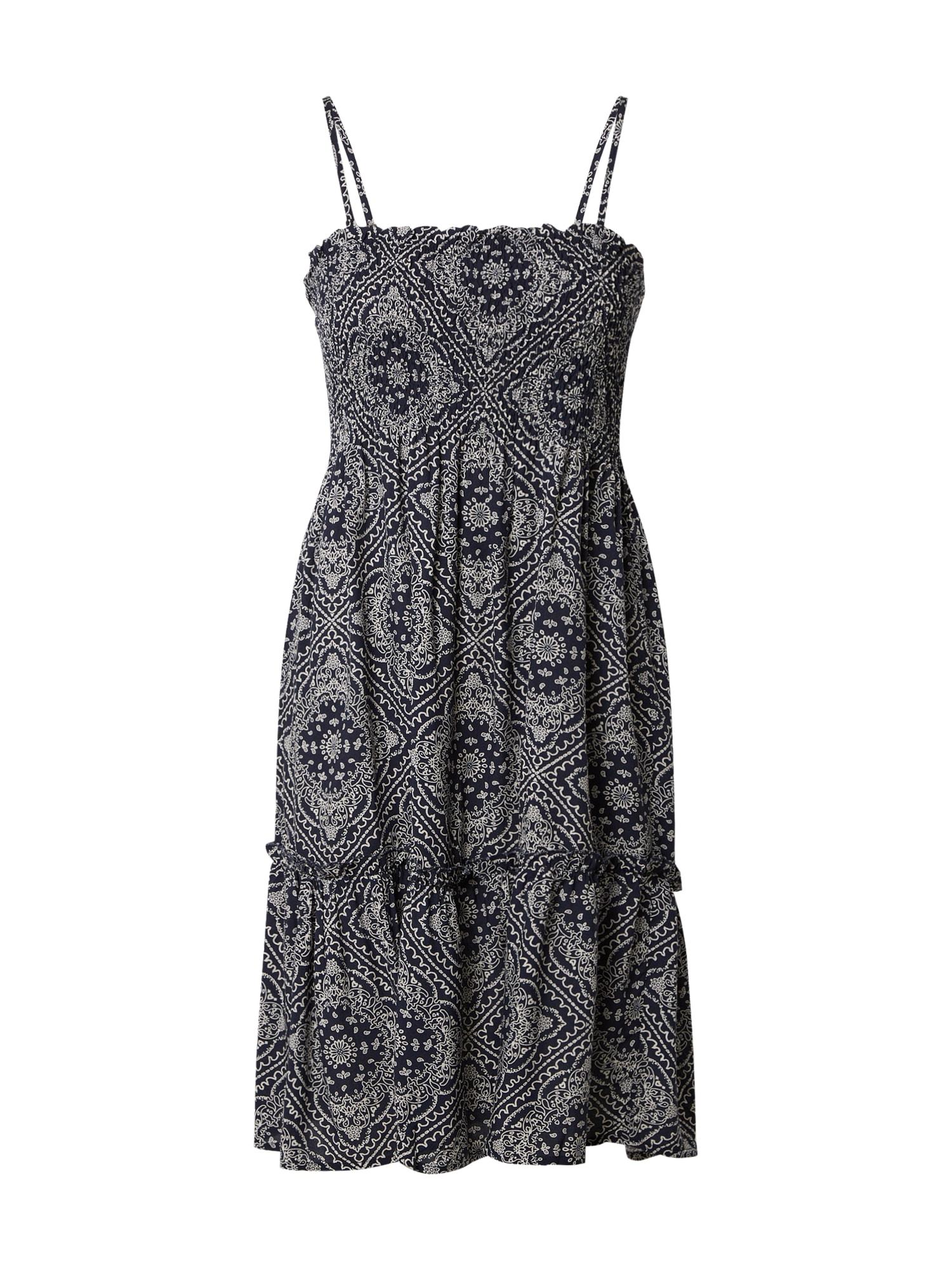 JACQUELINE de YONG Letné šaty 'STARR'  biela / tmavomodrá