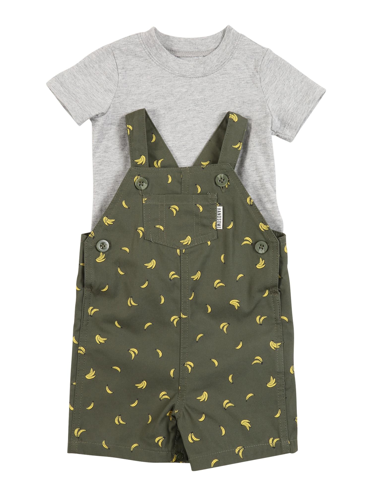 Carter's Rinkinys 'Shortalls S20 B Shortall Bananas' alyvuogių spalva