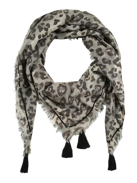 Schals für Frauen - Frogbox Tuch mit Leo Print beige grau schwarz  - Onlineshop ABOUT YOU