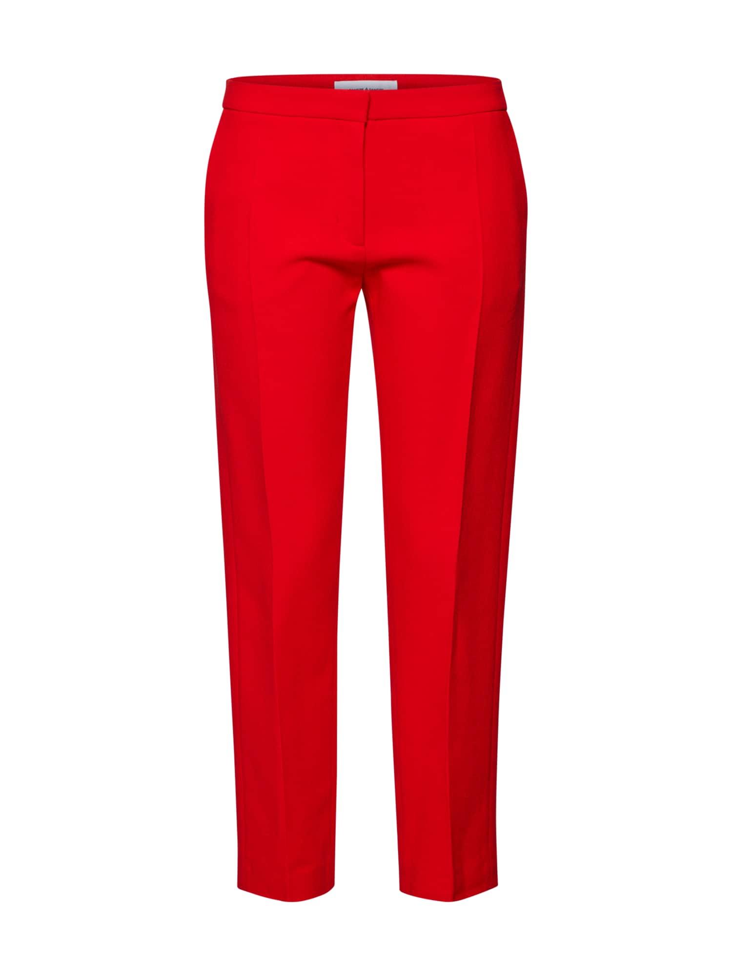 Kalhoty se sklady v pase Nell pants 7968 světle červená Samsoe & Samsoe