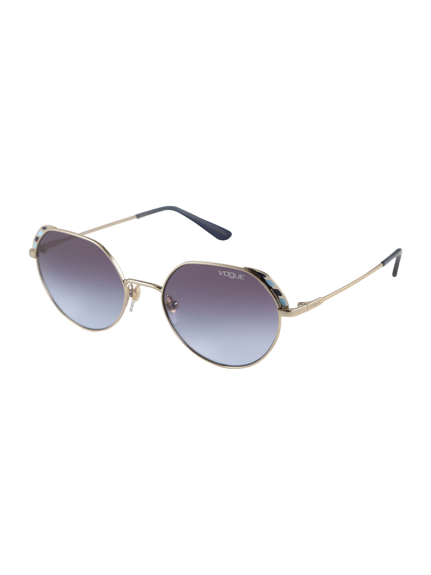 VOGUE Eyewear Akiniai nuo saulės turkio spalva / auksas / violetinė-mėlyna