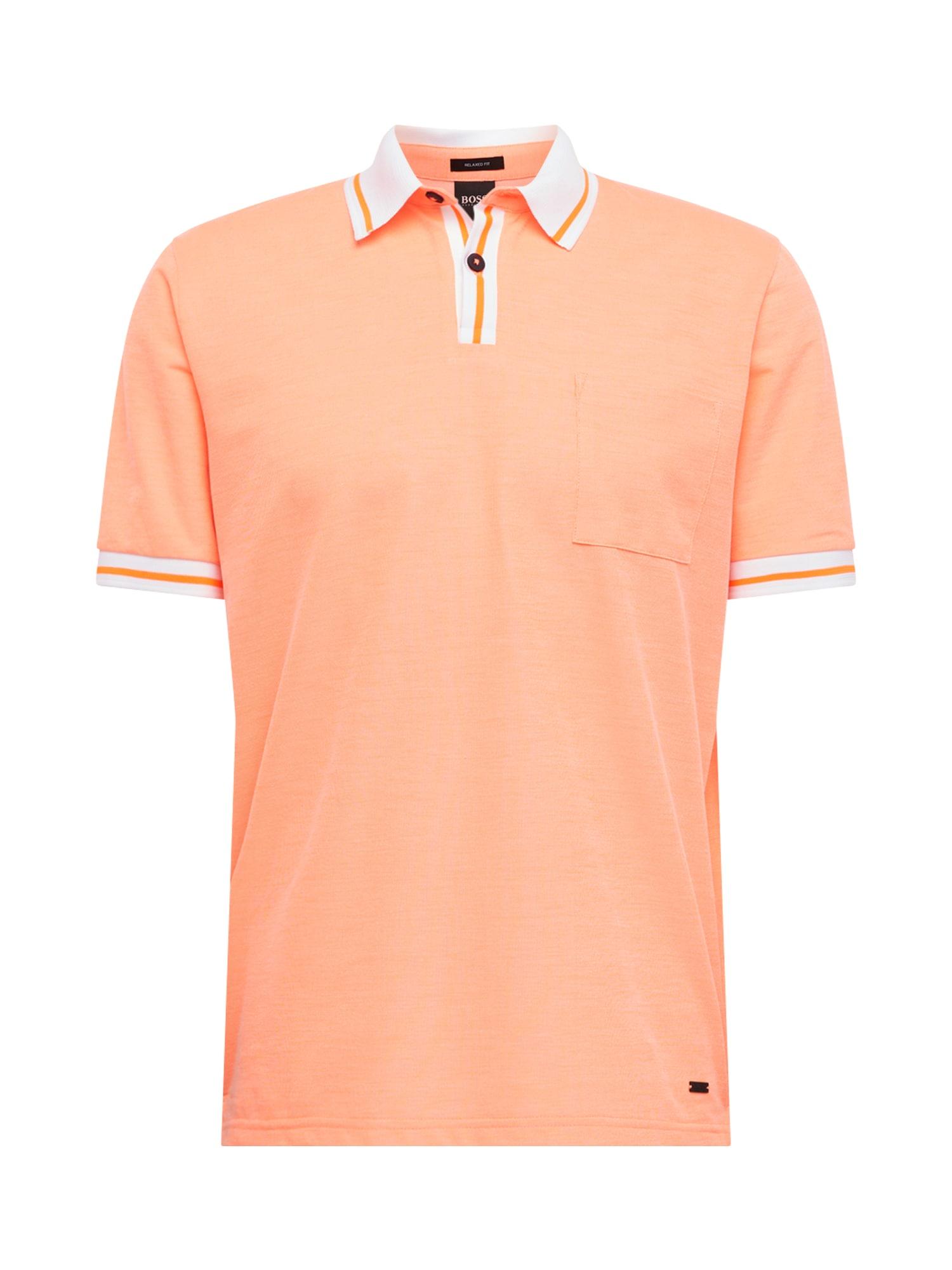 BOSS Marškinėliai 'Pretend' oranžinė