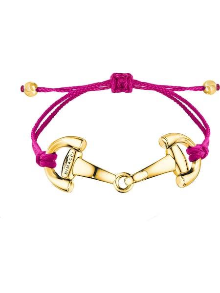 Armbaender für Frauen - Dimacci Armband 'Pony 78313' gold fuchsia  - Onlineshop ABOUT YOU