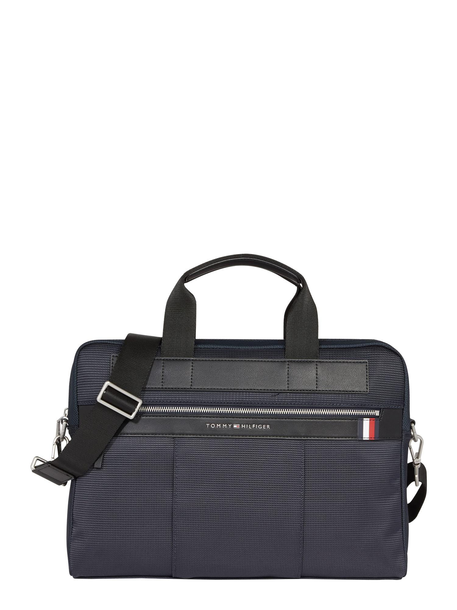 TOMMY HILFIGER Nešiojamojo kompiuterio krepšys tamsiai mėlyna