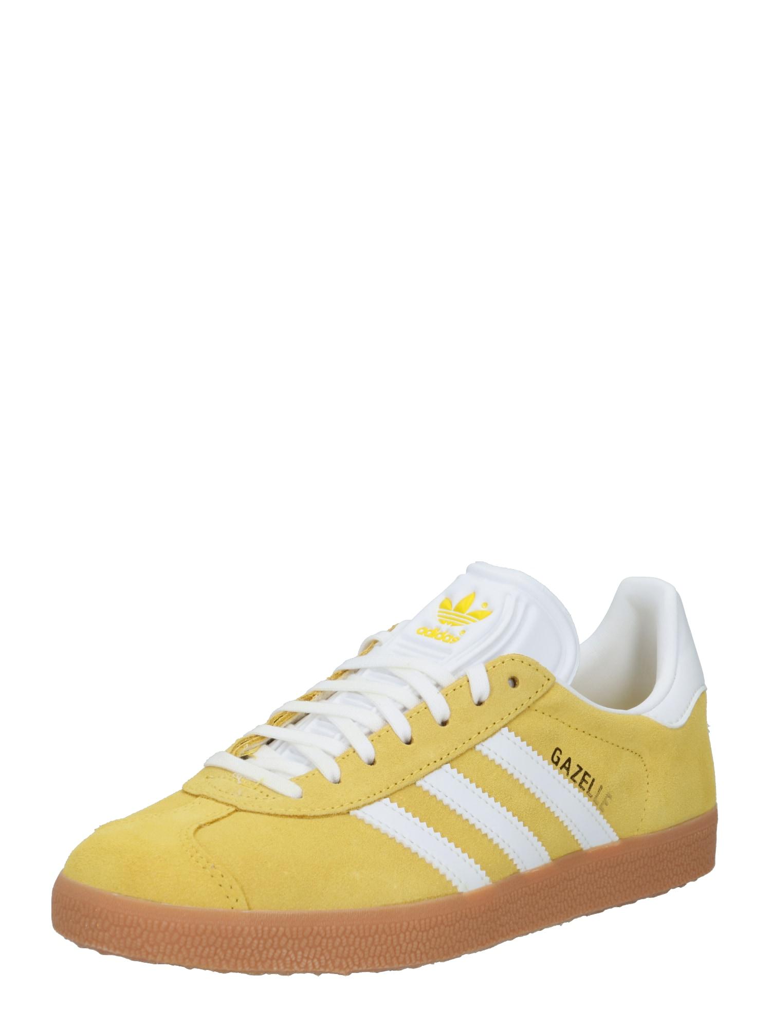ADIDAS ORIGINALS Nízke tenisky 'Gazelle'  biela / žltá