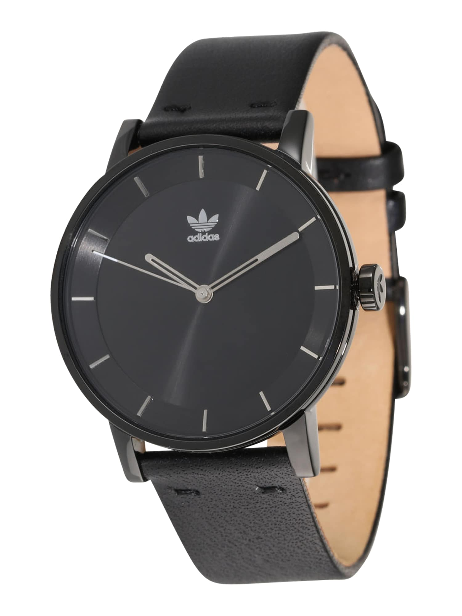 ADIDAS ORIGINALS Analoginis (įprastinio dizaino) laikrodis 'District_L1' juoda