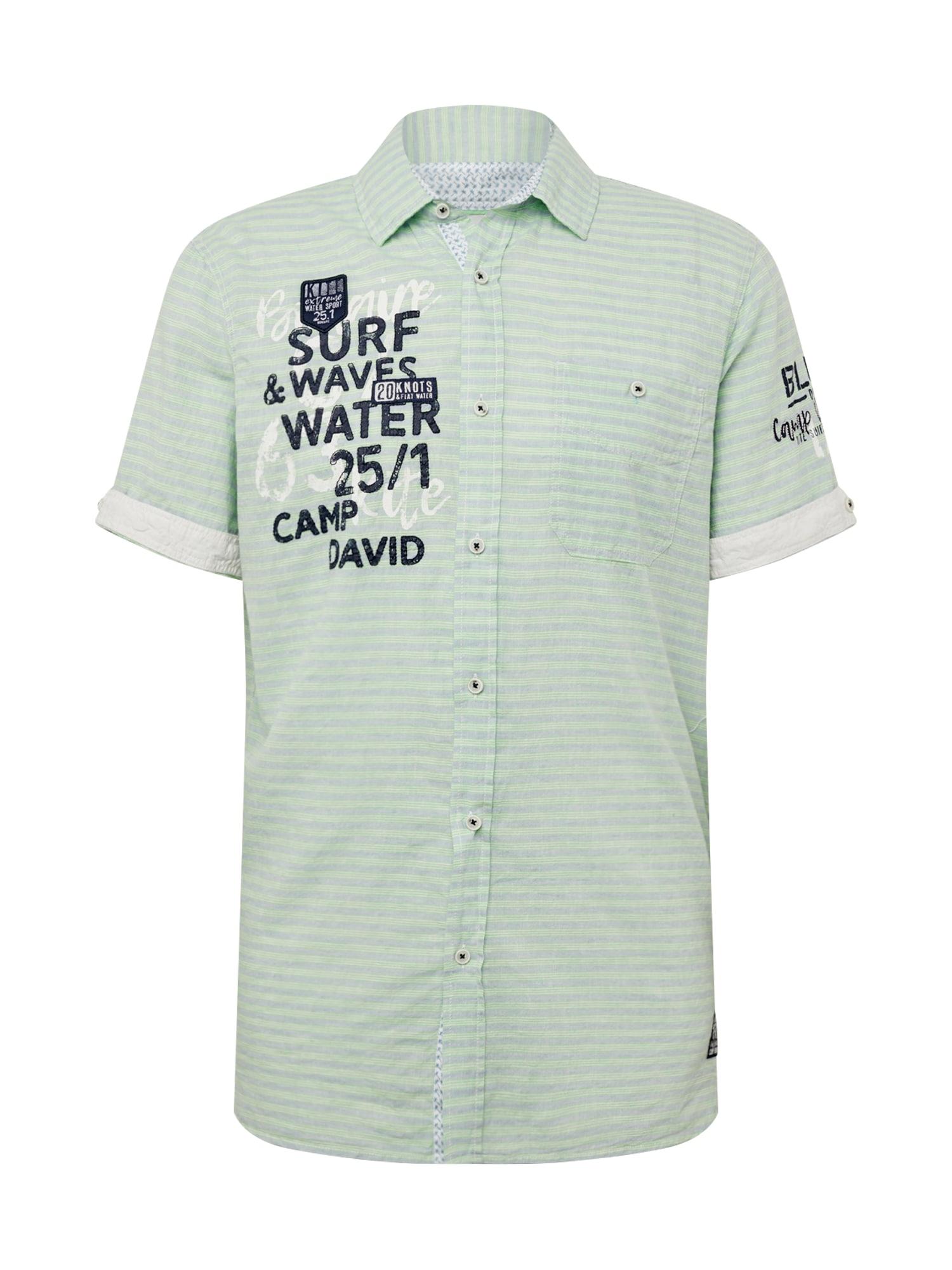 Košile svítivě zelená CAMP DAVID