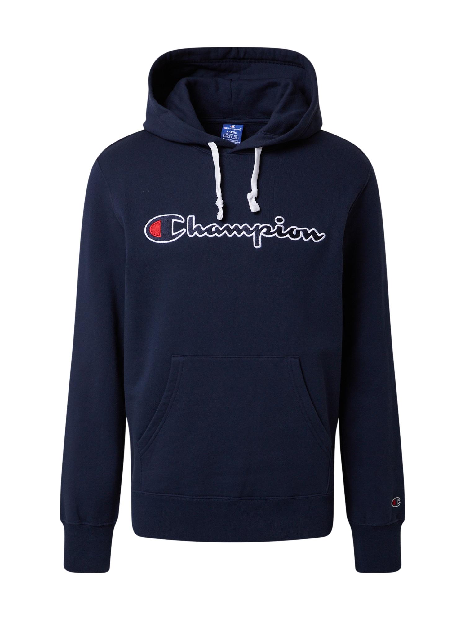 Champion Authentic Athletic Apparel Megztinis be užsegimo tamsiai mėlyna / balta