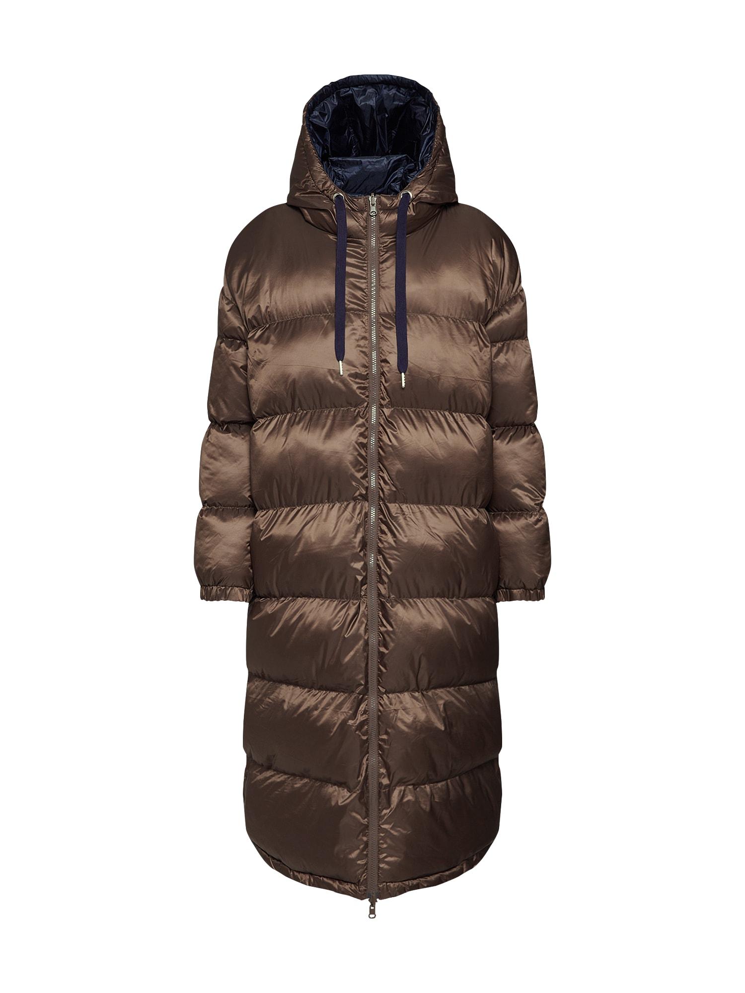 EDITED Žieminis paltas 'Olwen' ruda / mėlyna