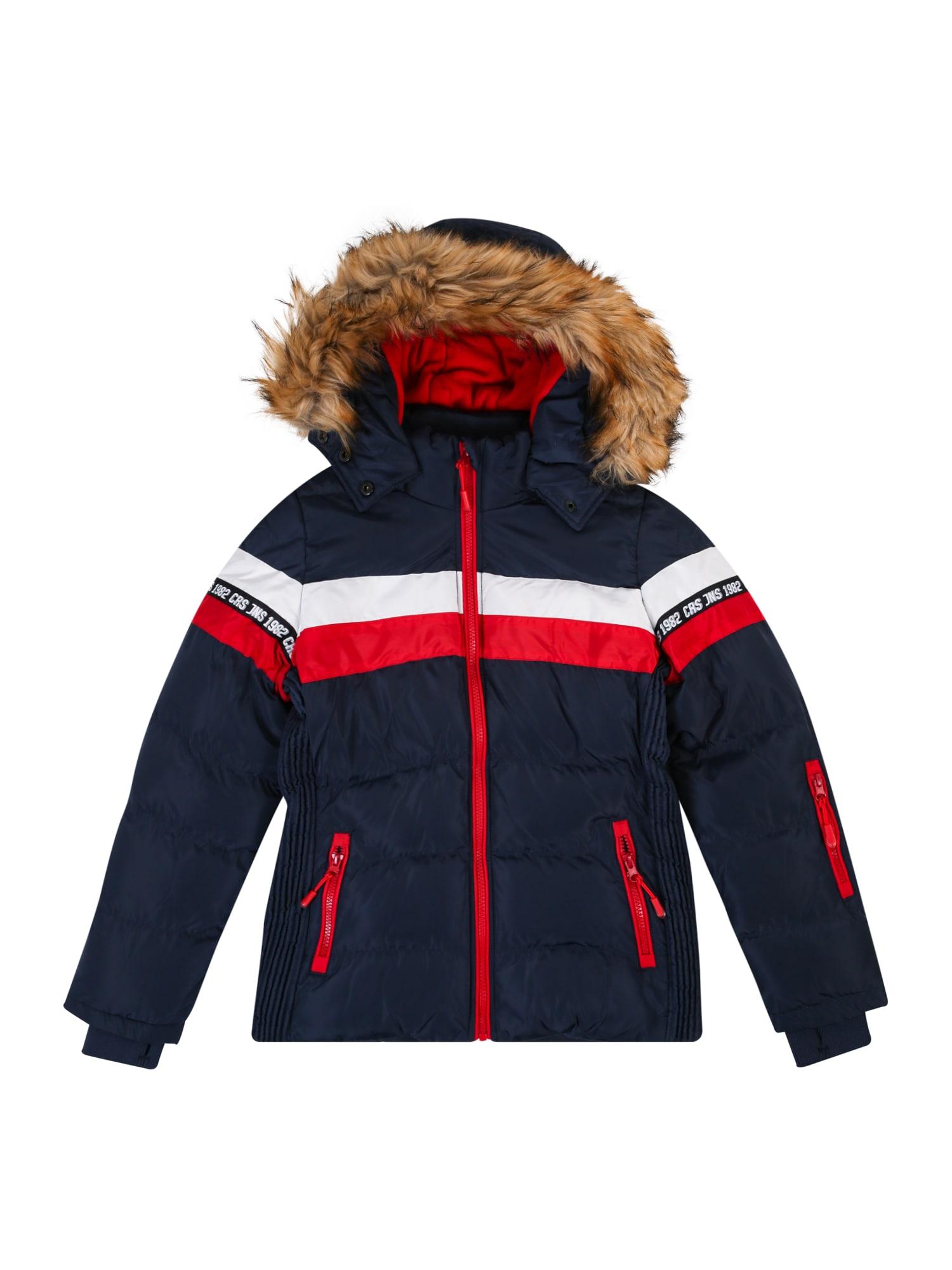 Cars Jeans Žieminė striukė 'KIDS NOVALIE POLY' tamsiai mėlyna / raudona