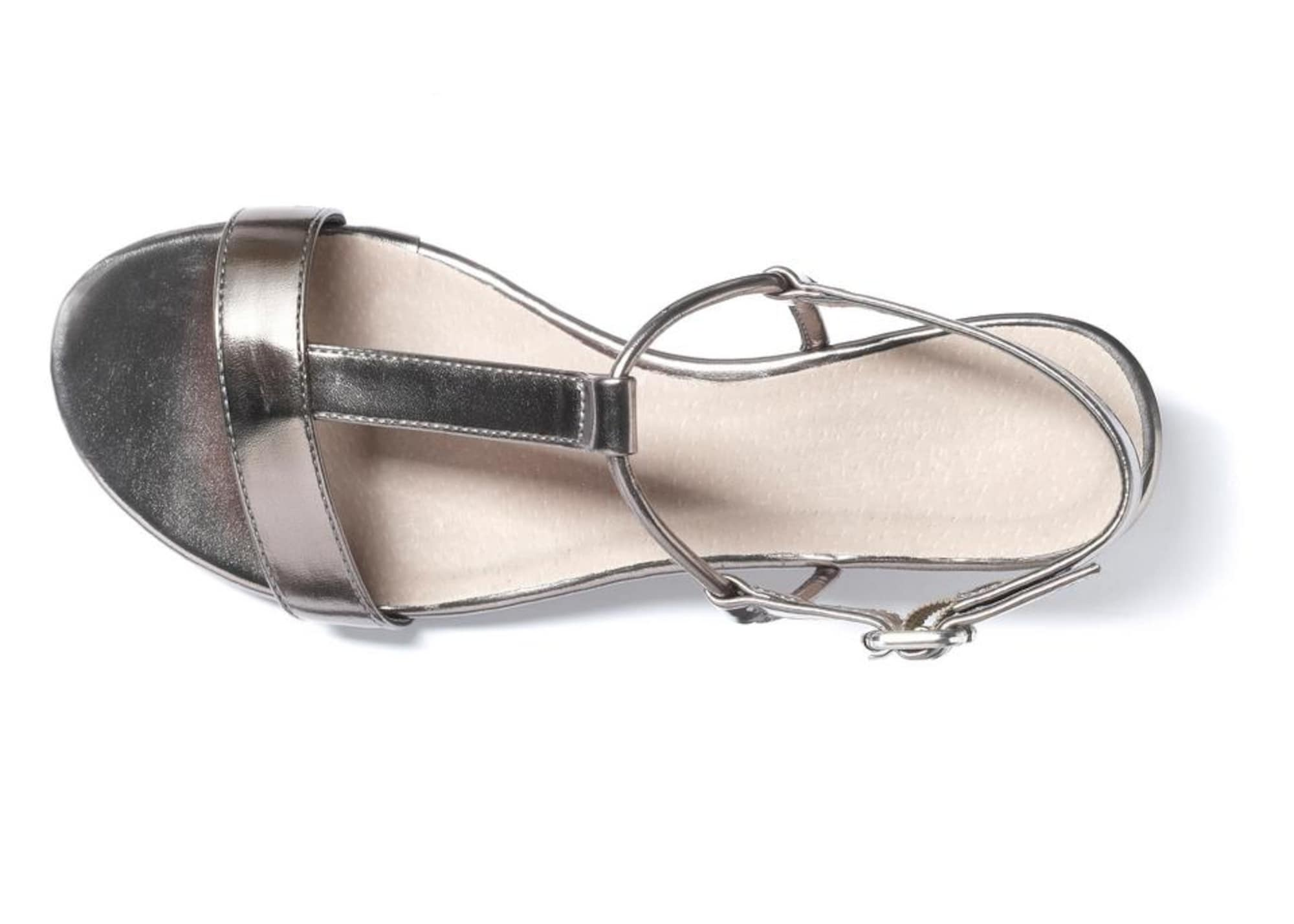 LASCANA Sandalai sidabro pilka