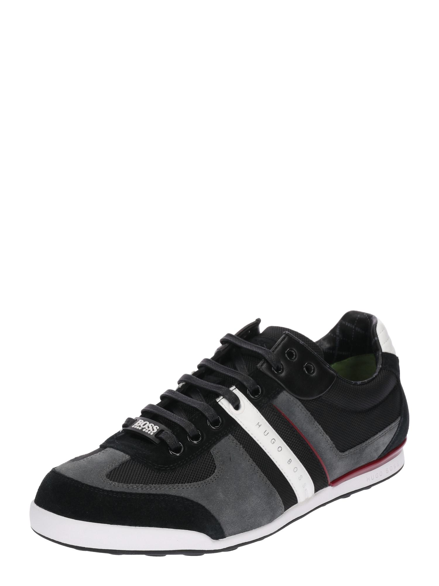 Sportovní šněrovací boty Akeen tmavě šedá černá BOSS